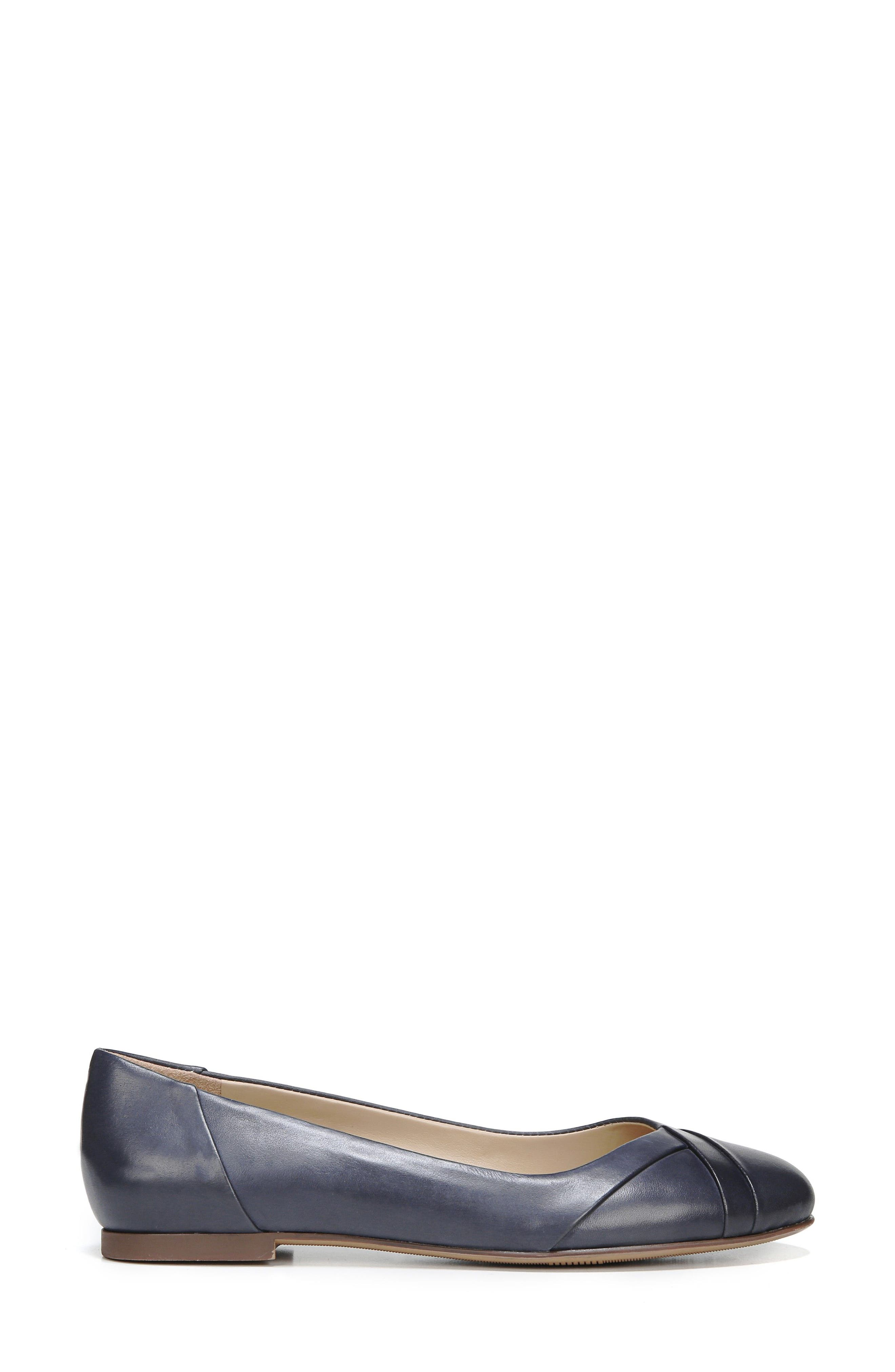 Gilly Flat,                             Alternate thumbnail 3, color,                             NAVY LEATHER