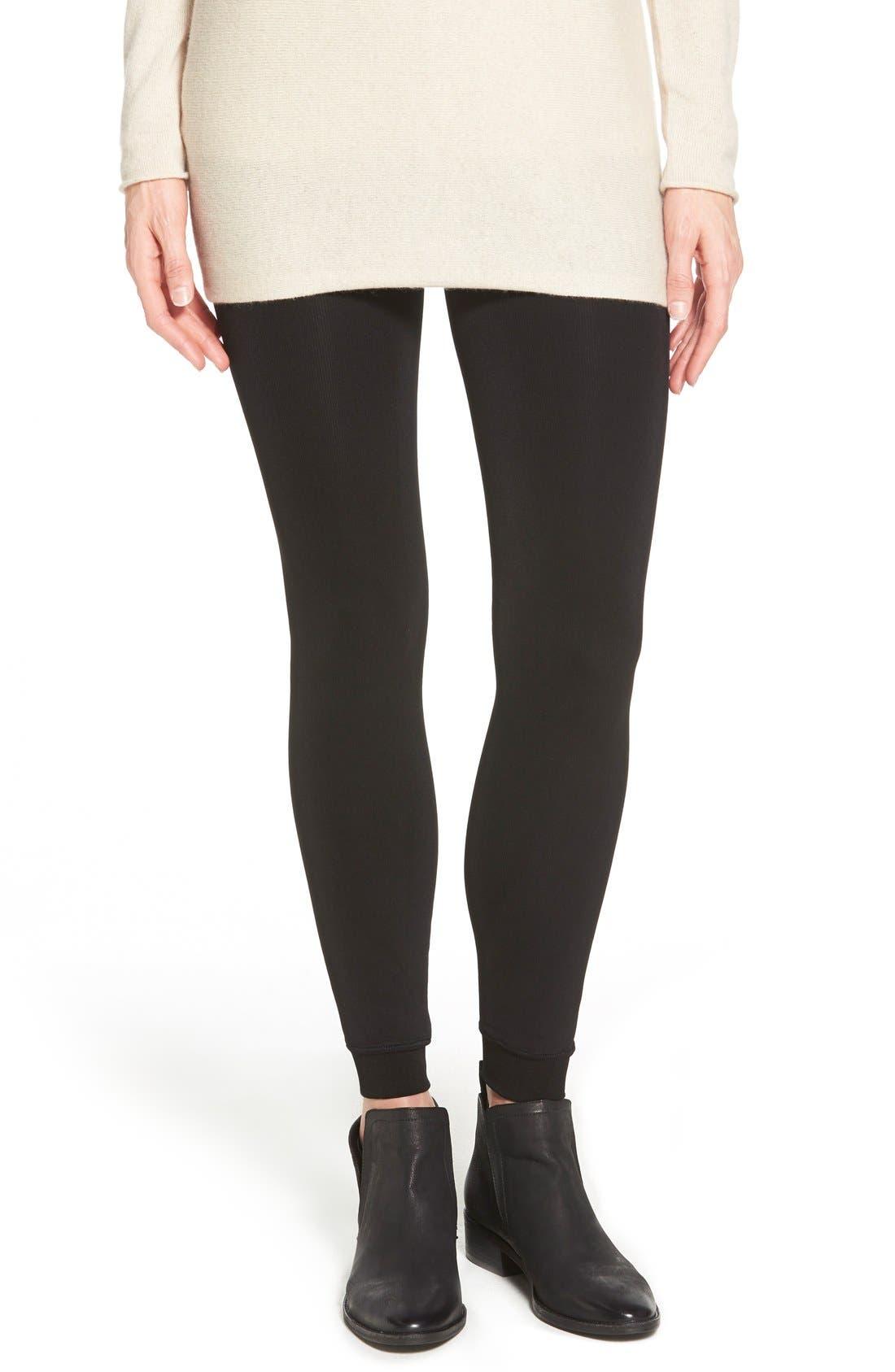 Faux Fur Lined Leggings, Main, color, 001