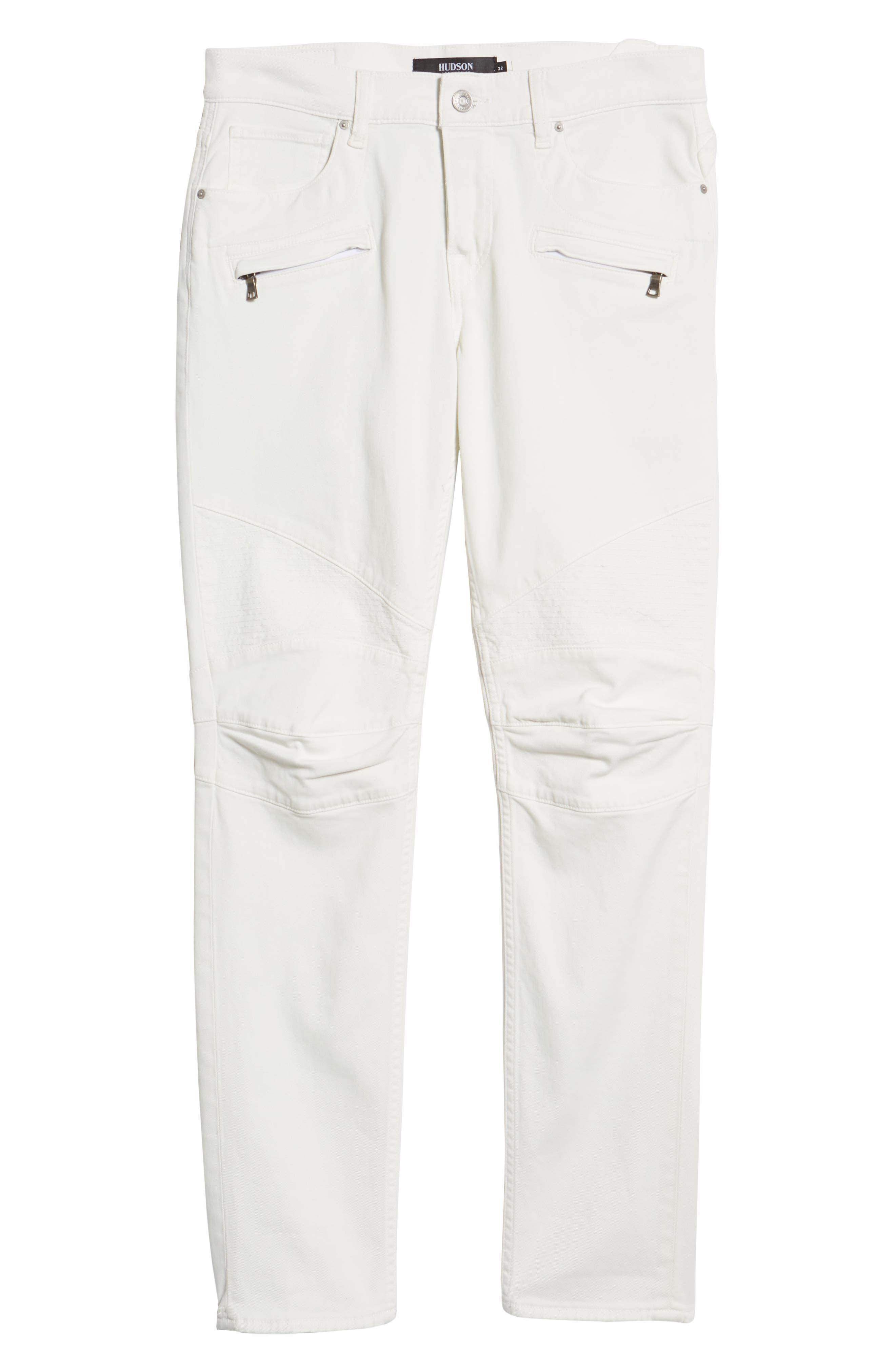 Blinder Biker Skinny Fit Jeans,                             Alternate thumbnail 6, color,                             DIRTY WHITE