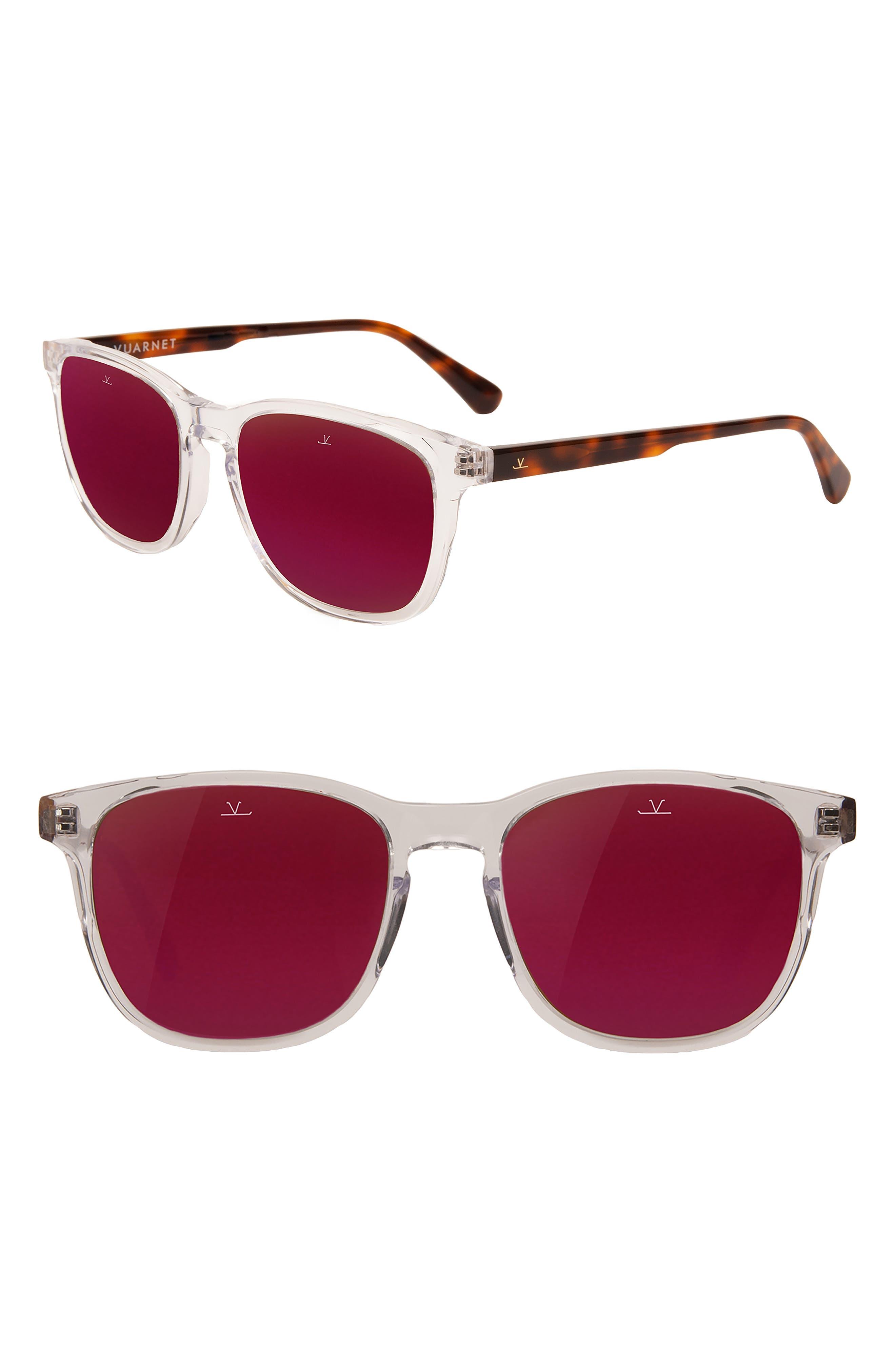 District Medium 53mm Sunglasses,                         Main,                         color, UNILYNX PURPLE FLASH
