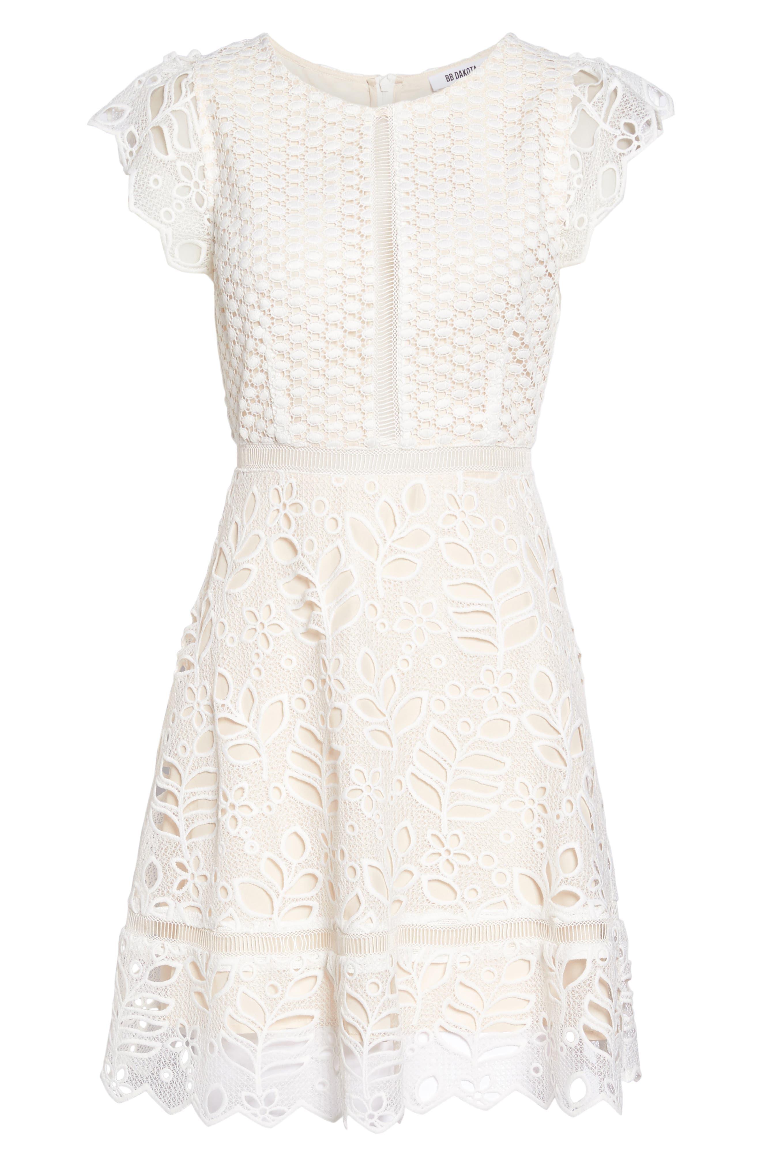 Ariane Mix Lace Dress,                             Alternate thumbnail 11, color,