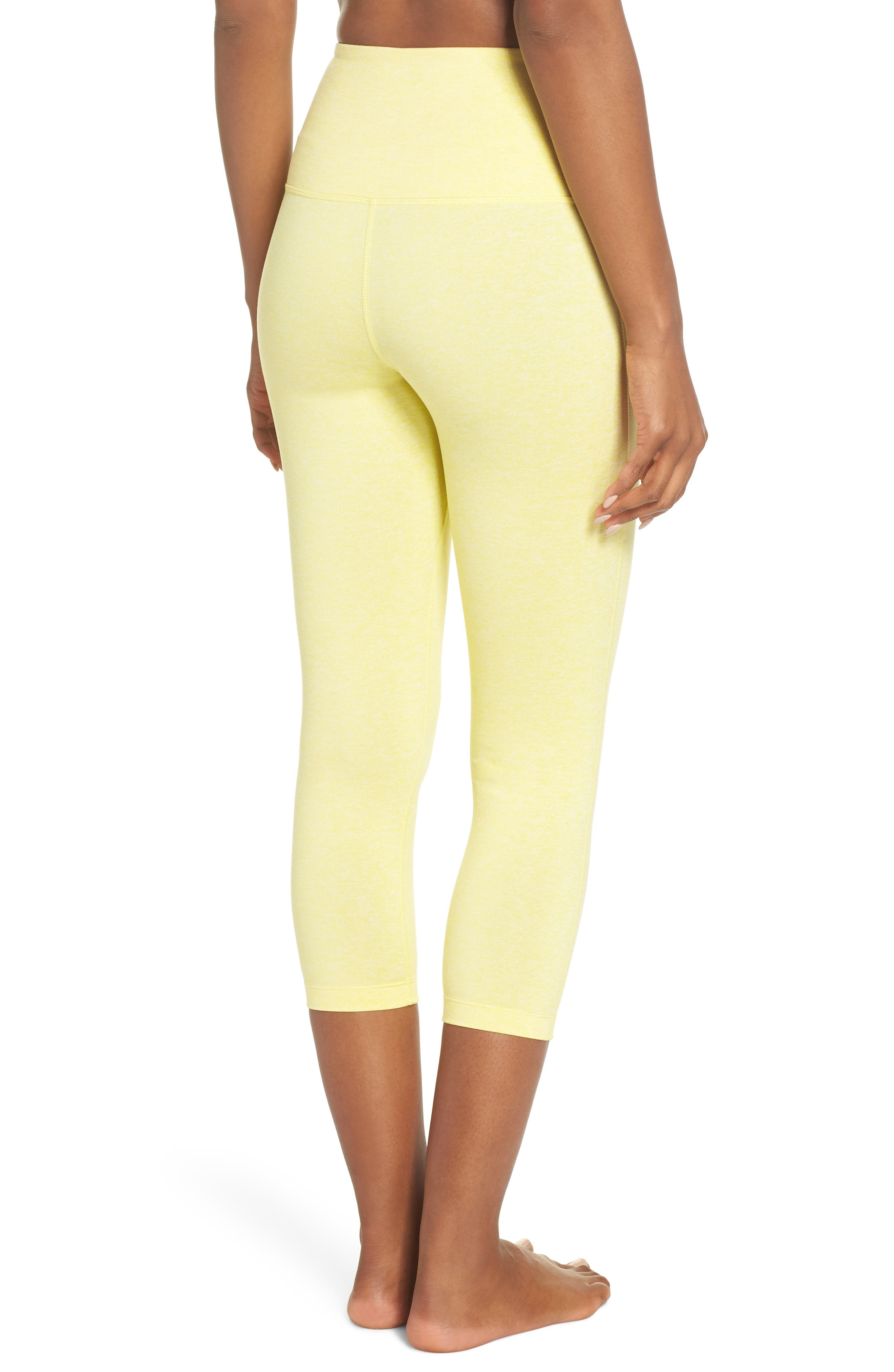 Live In High Waist Crop Recycled Leggings,                             Alternate thumbnail 2, color,                             YELLOW GLOW