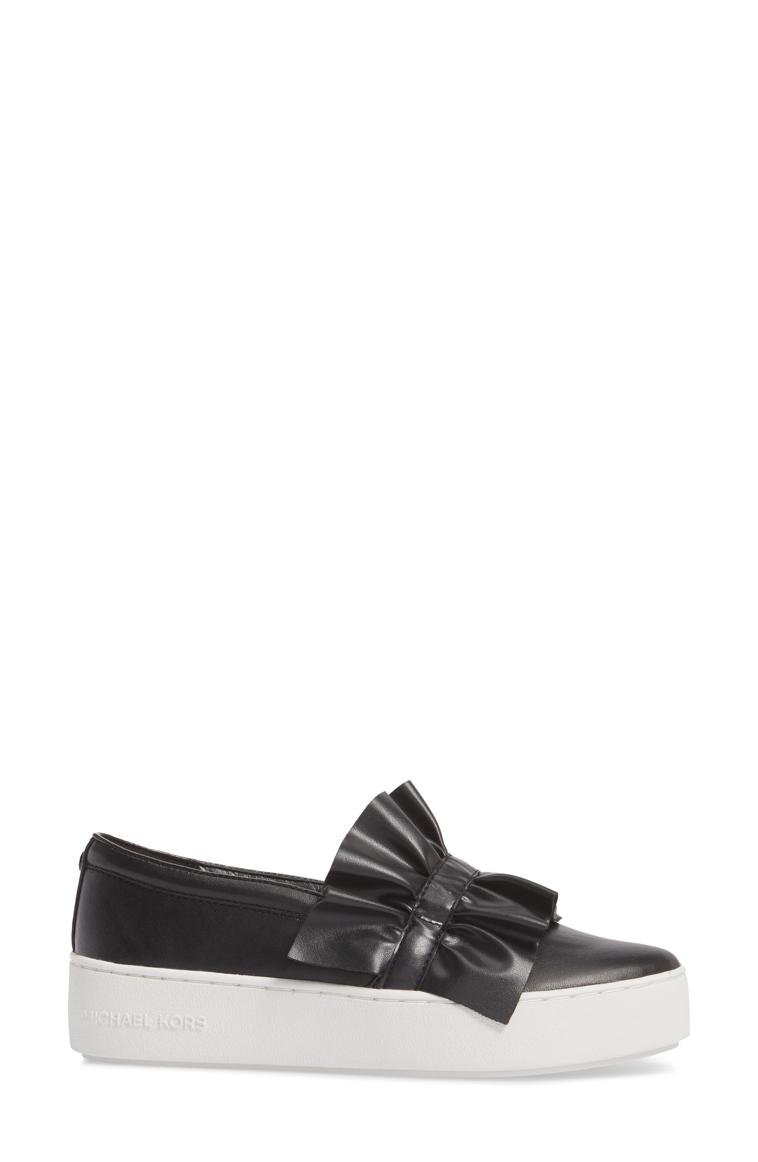 Bella Slip-On Sneaker,                             Alternate thumbnail 3, color,                             001