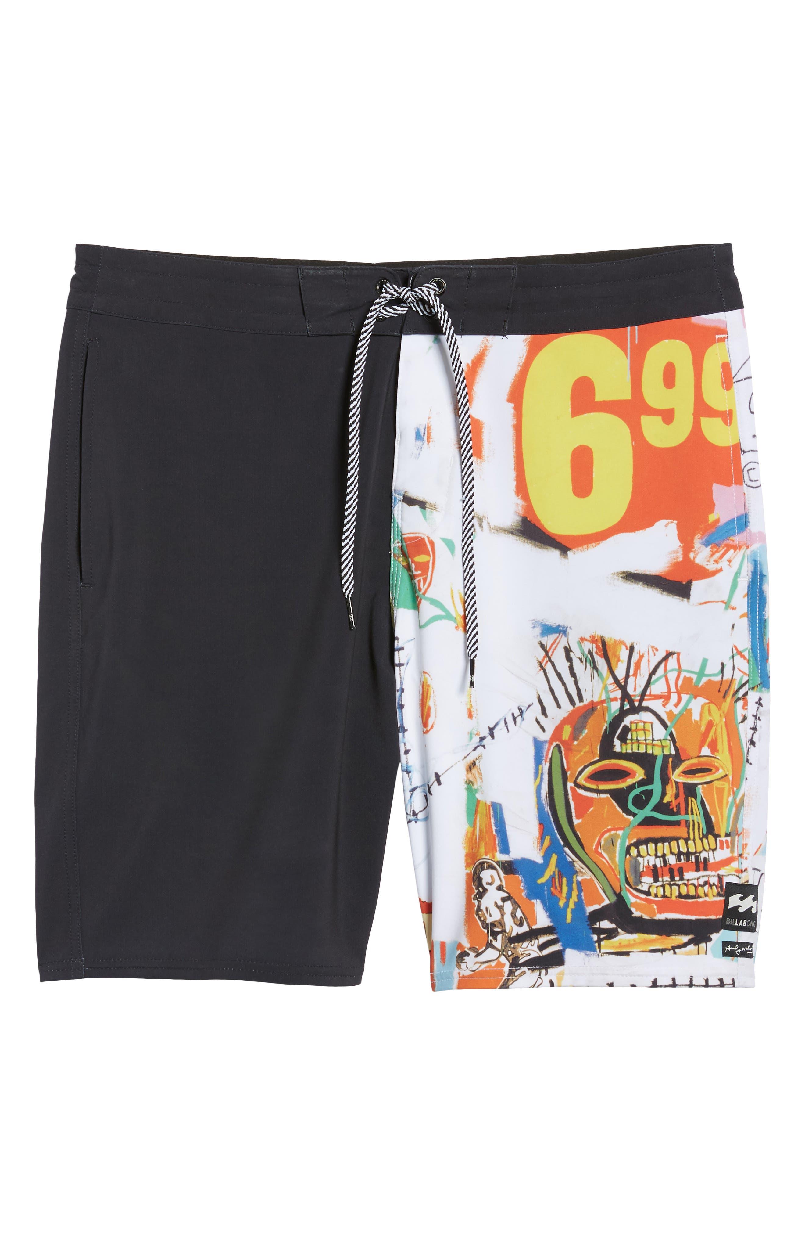 x Warhol 699 Board Shorts,                             Alternate thumbnail 6, color,                             100