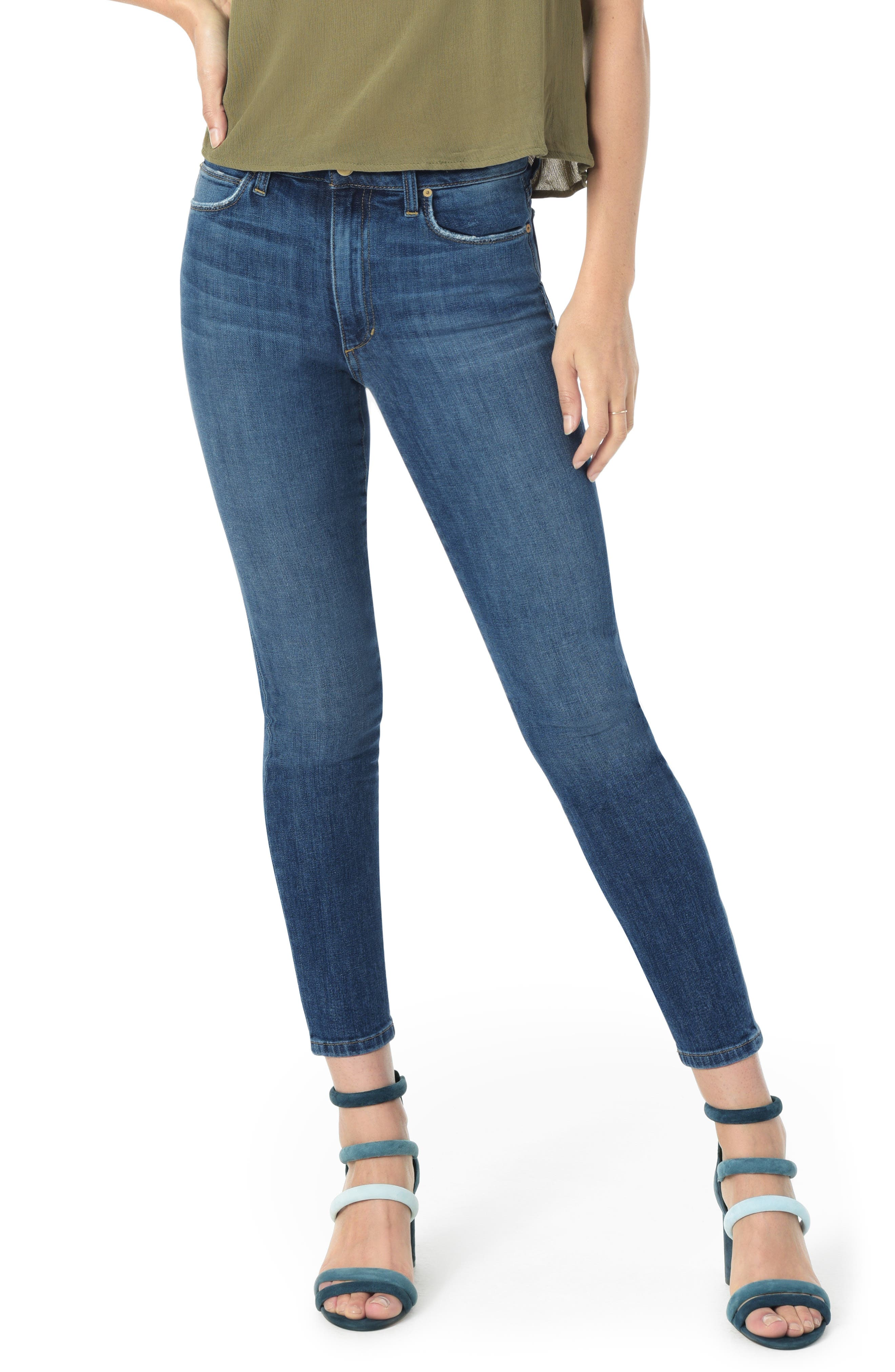 Charlie High Waist Crop Skinny Jeans,                             Main thumbnail 1, color,                             MALLORY