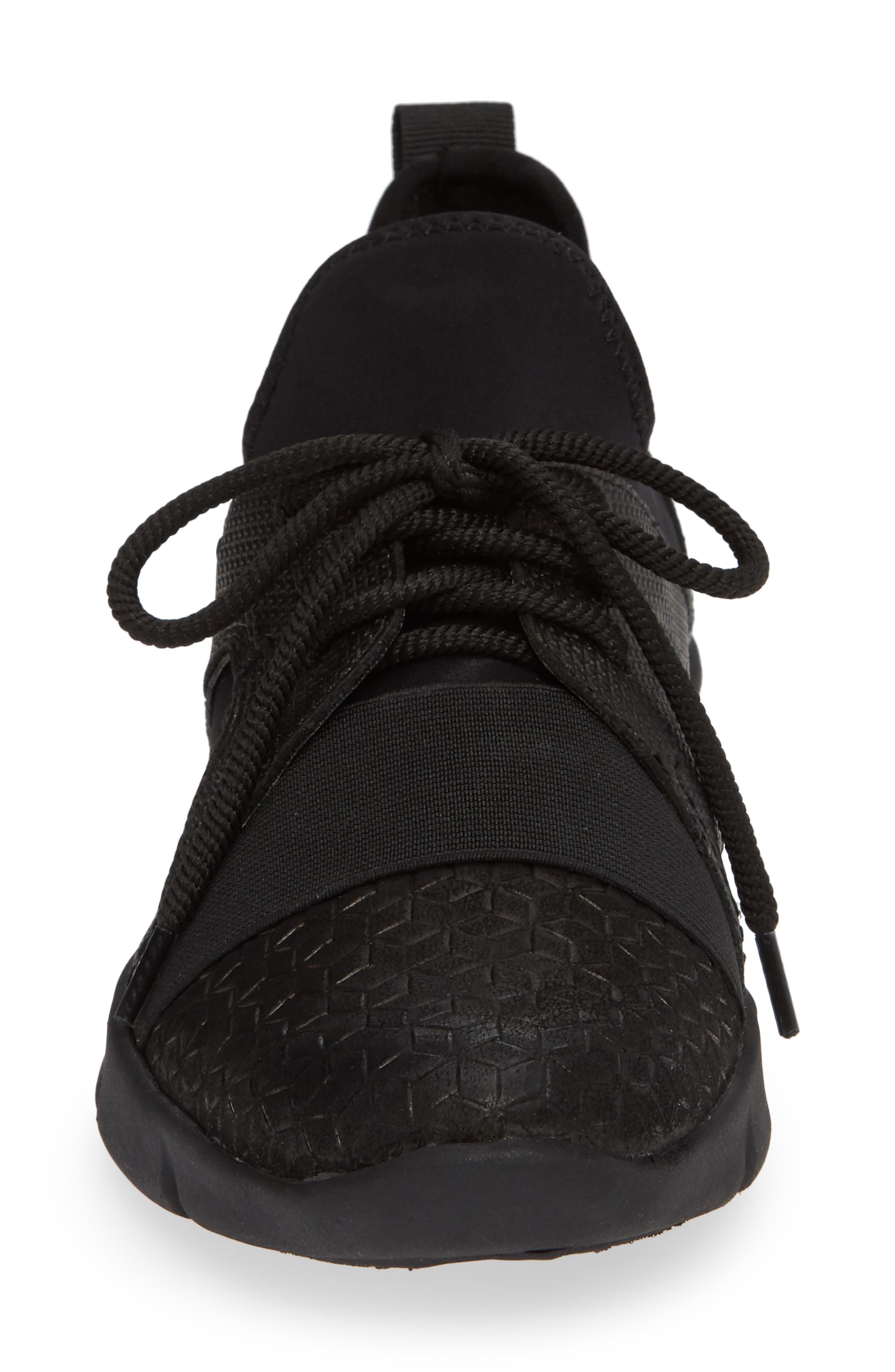 Transfer Sneaker,                             Alternate thumbnail 4, color,                             BLACK