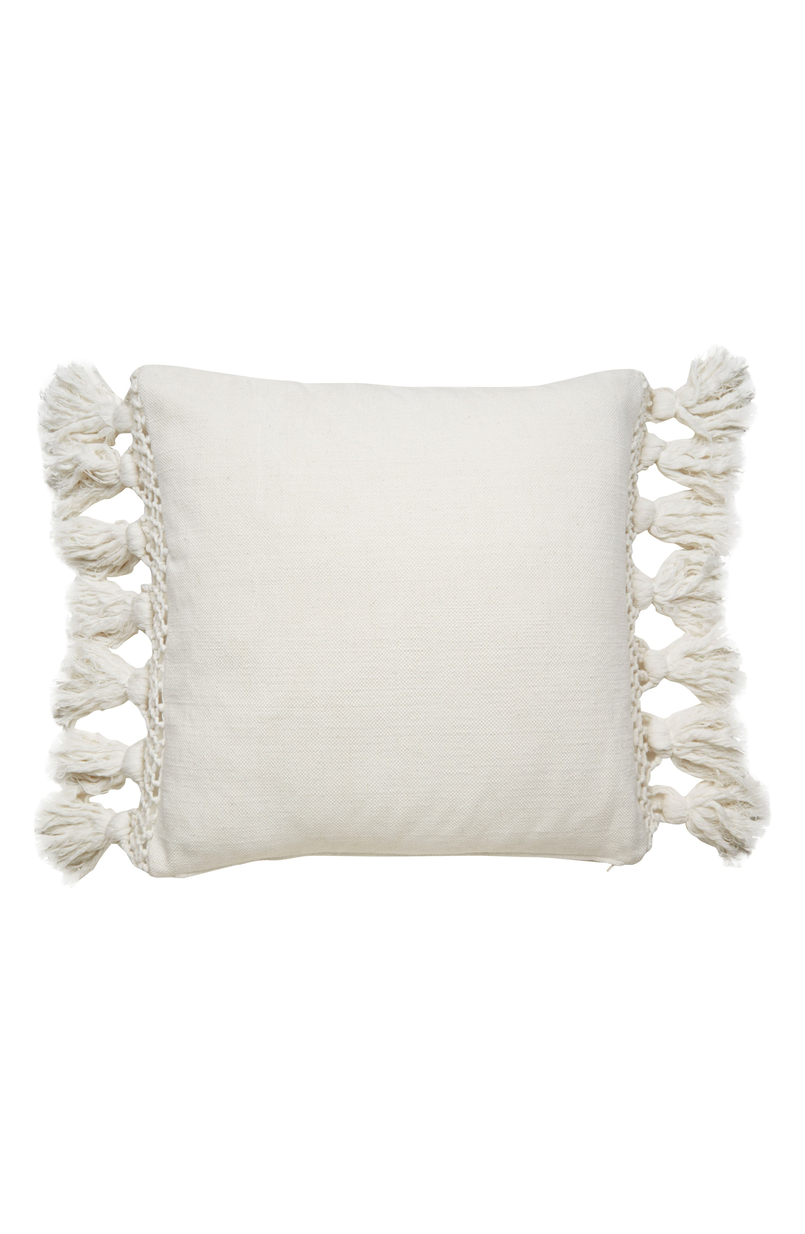 KATE SPADE NEW YORK tassel accent pillow, Main, color, 100