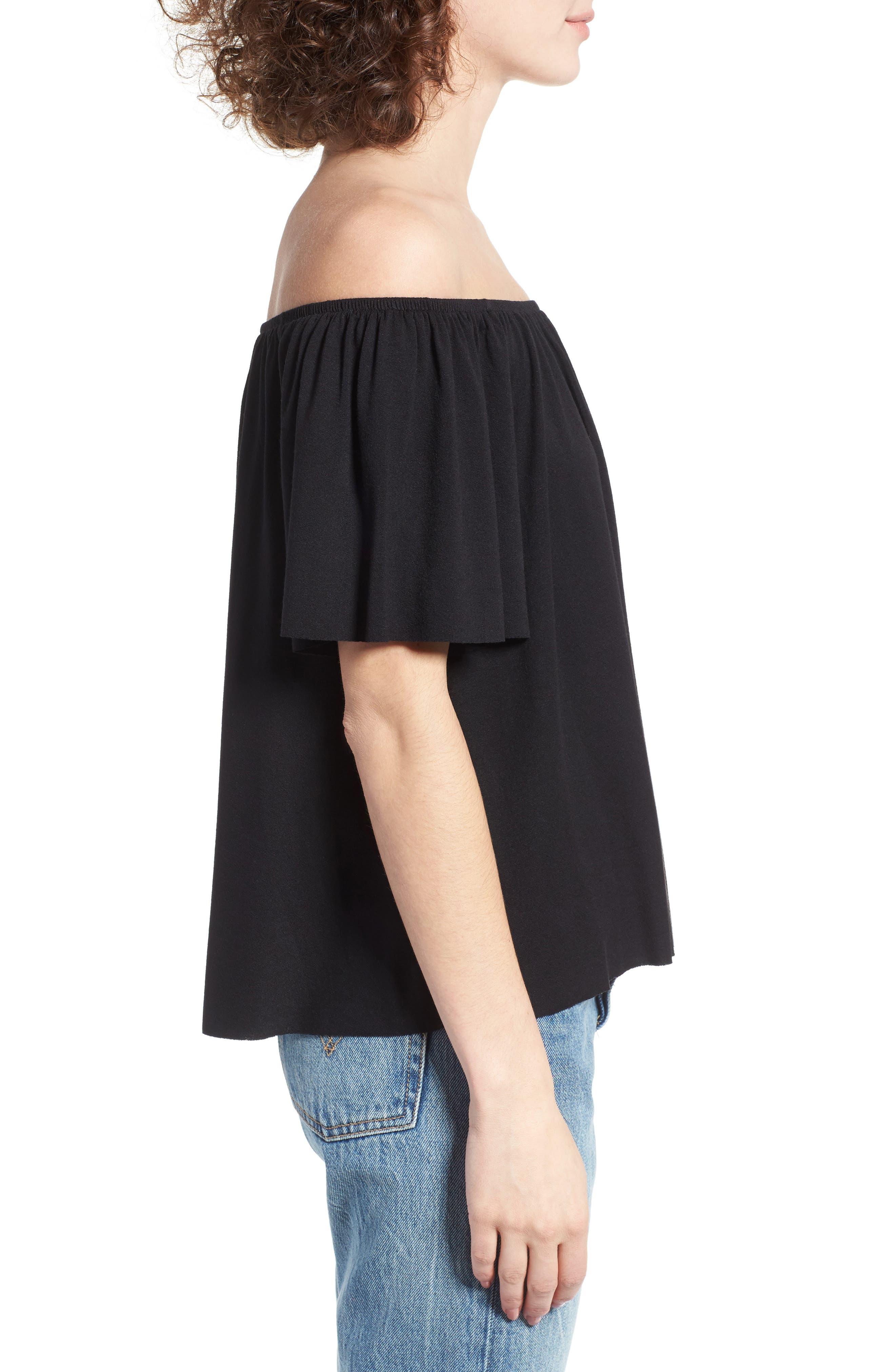 Off the Shoulder Top,                             Alternate thumbnail 19, color,