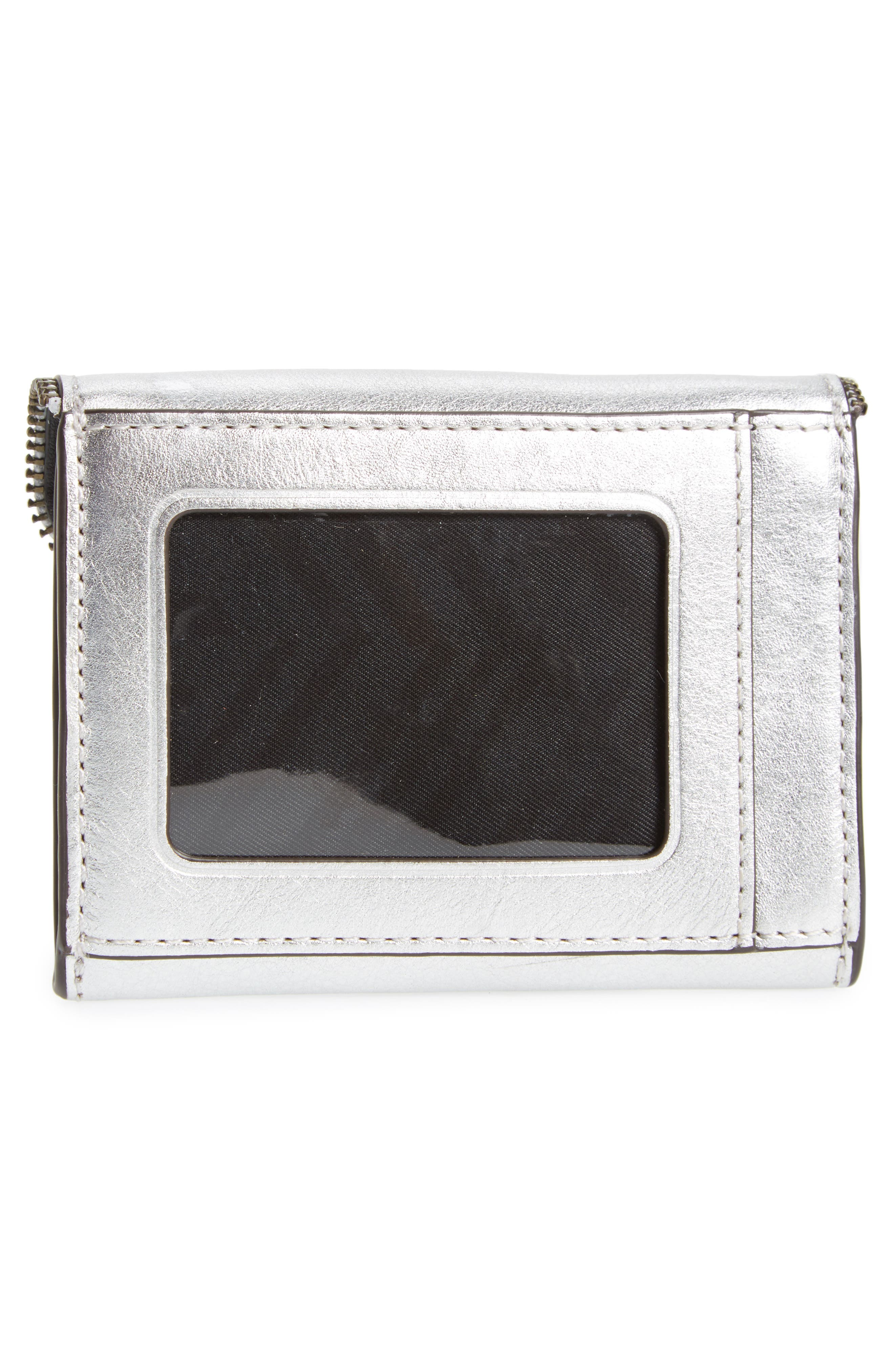Molly Metro Metallic Leather Wallet,                             Alternate thumbnail 4, color,                             040