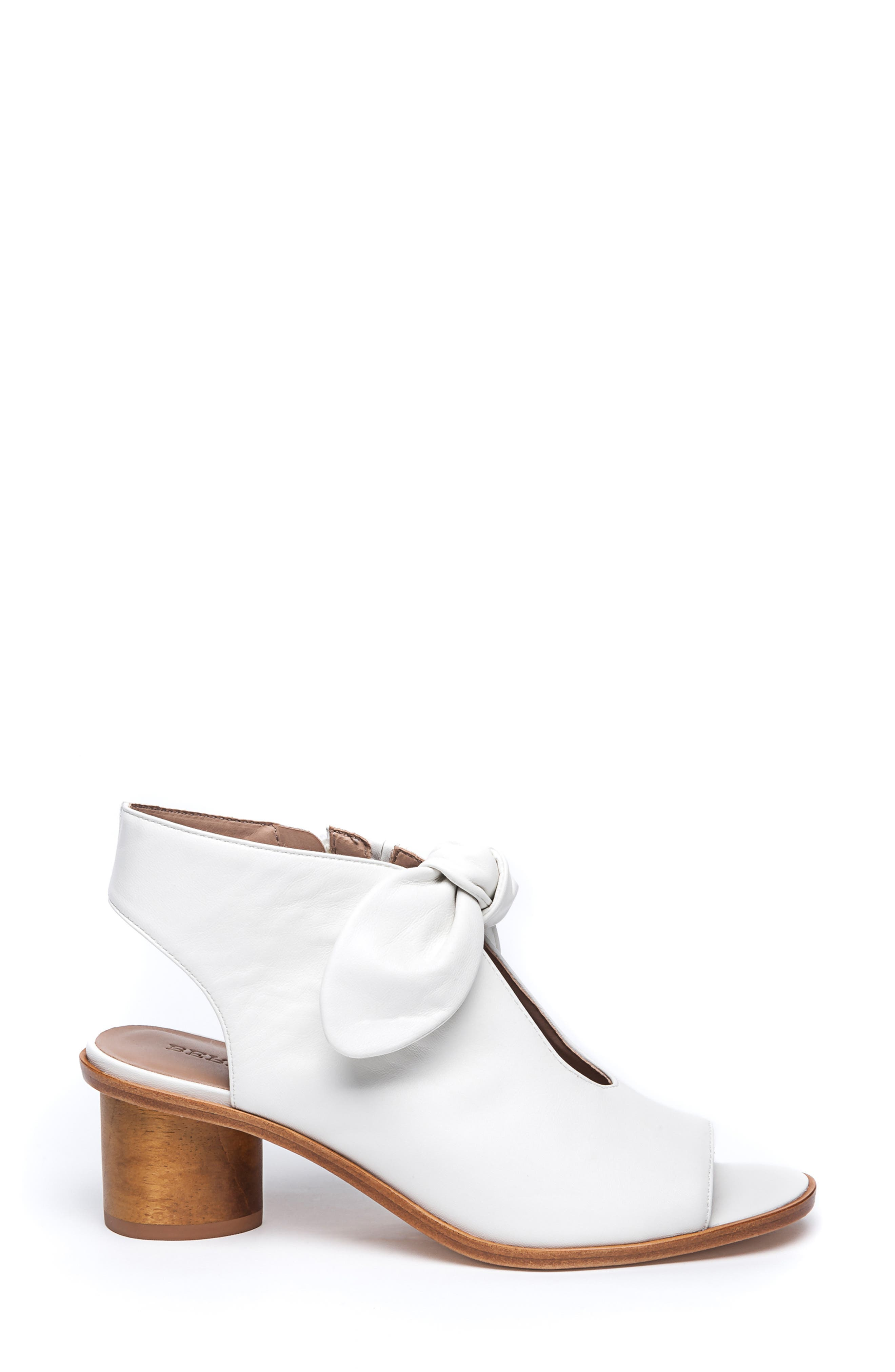 Bernardo Luna Sandal,                             Alternate thumbnail 3, color,                             WHITE LEATHER