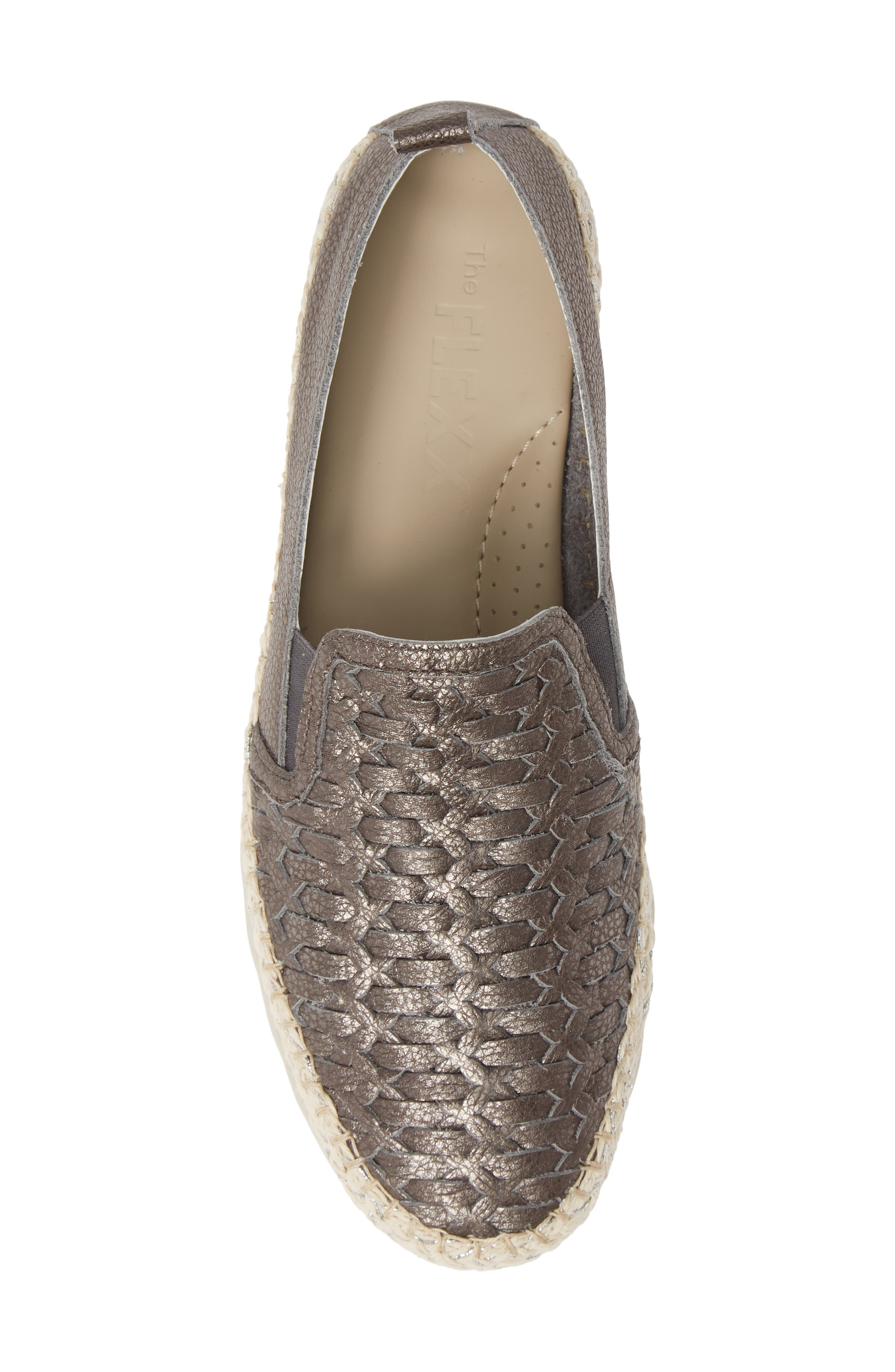 Chapter Woven Slip-On Sneaker,                             Alternate thumbnail 5, color,                             CANNA DI FUCILE CURTIS LEATHER