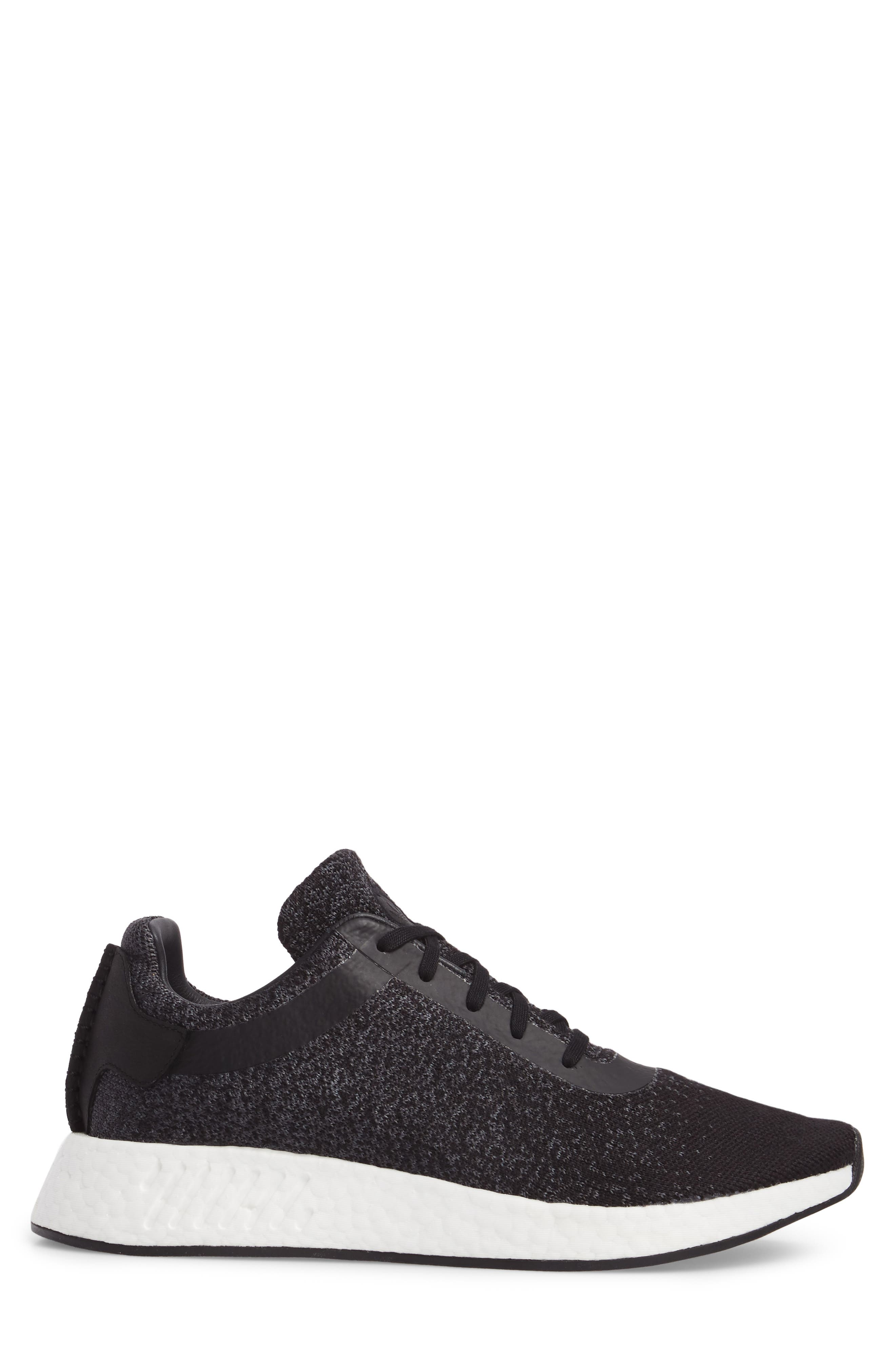 adidas x wings + horns Primeknit NMD_R2 Sneaker,                             Alternate thumbnail 3, color,                             001
