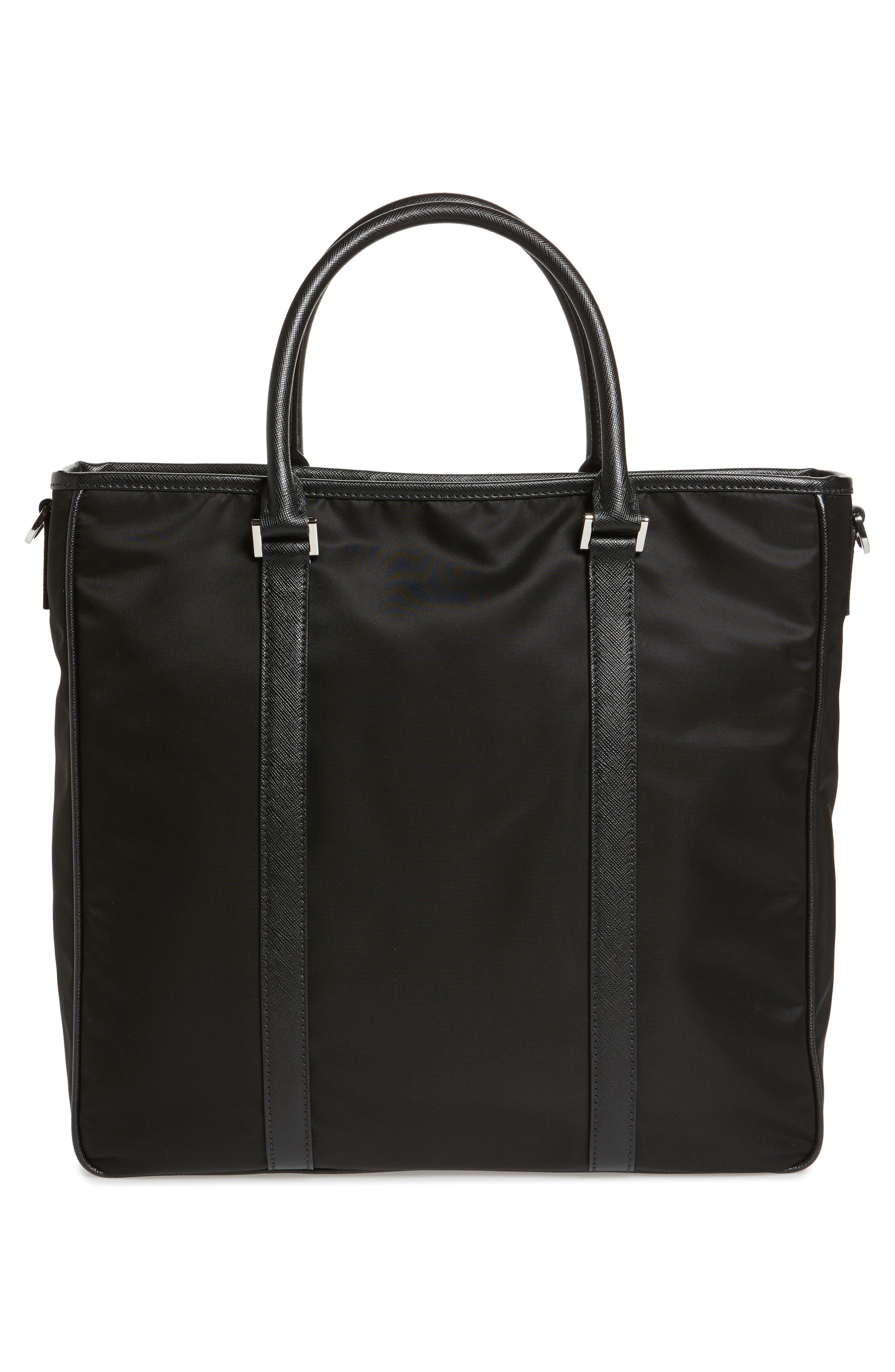 Nylon Tote Bag,                             Alternate thumbnail 3, color,                             001