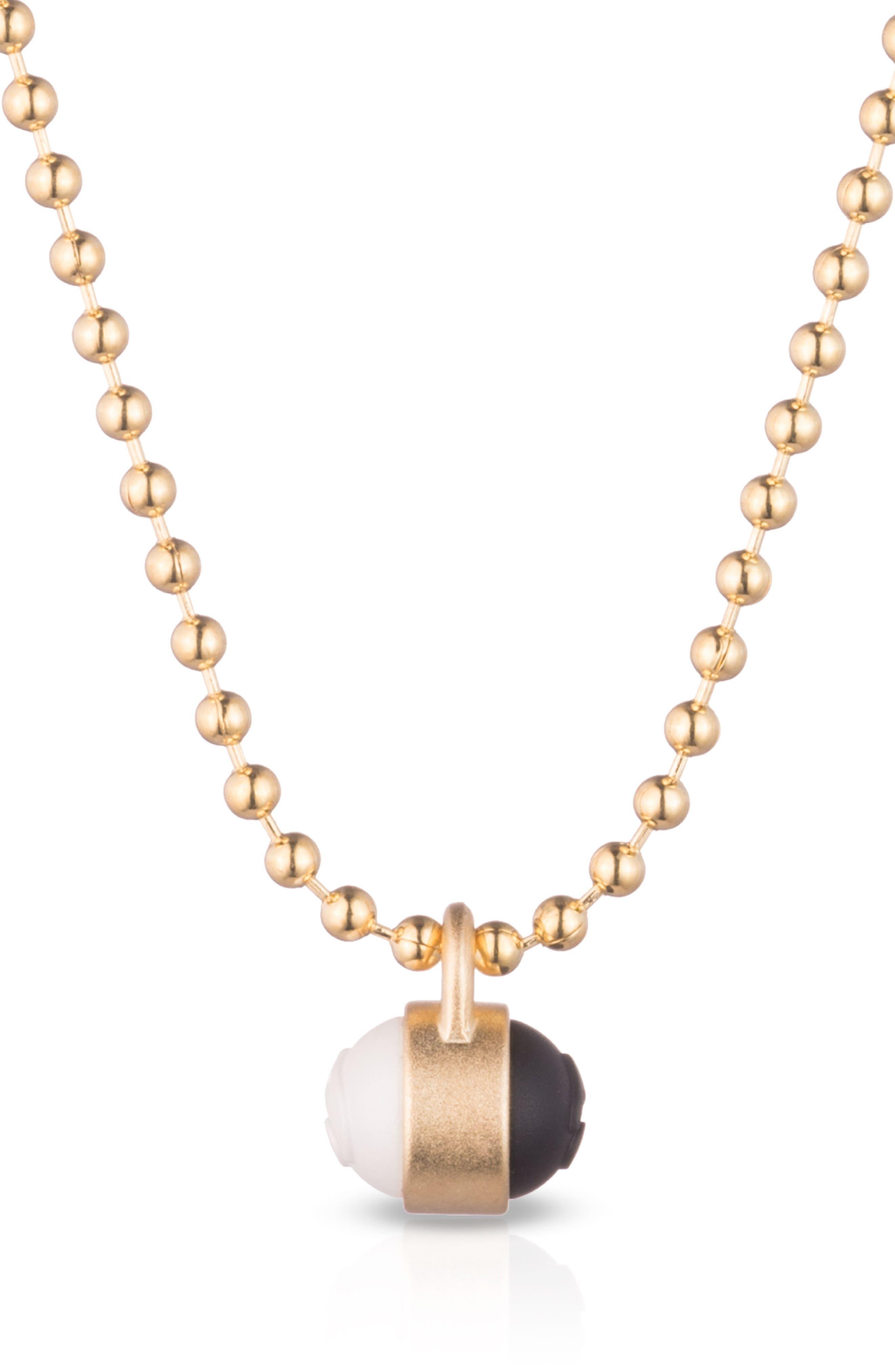 Pendant Ball Chain Necklace,                             Alternate thumbnail 6, color,
