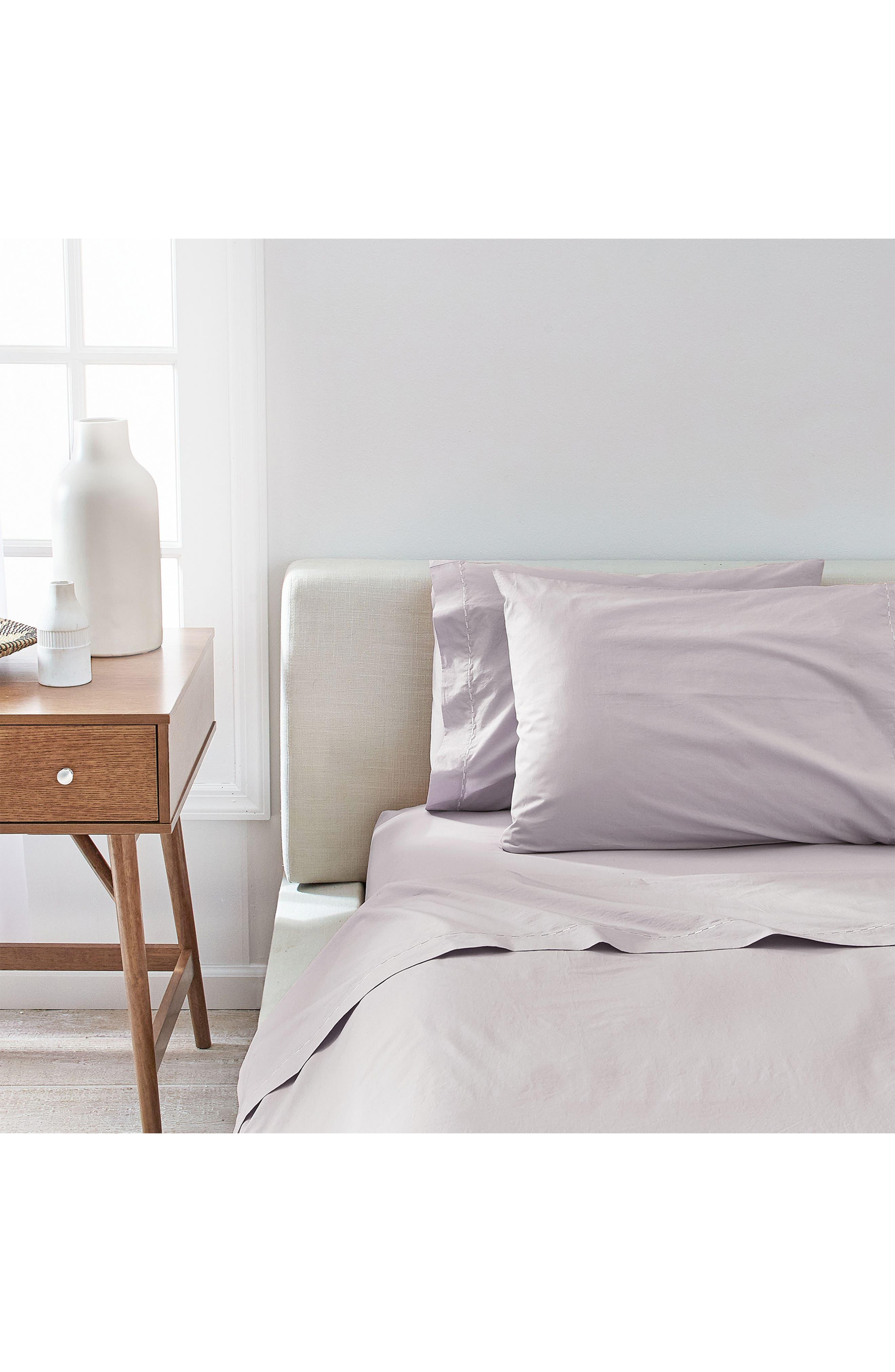 SPLENDID HOME DECOR,                             Spendid Home Decor Cotton Percale Pillowcases,                             Alternate thumbnail 3, color,                             MIST