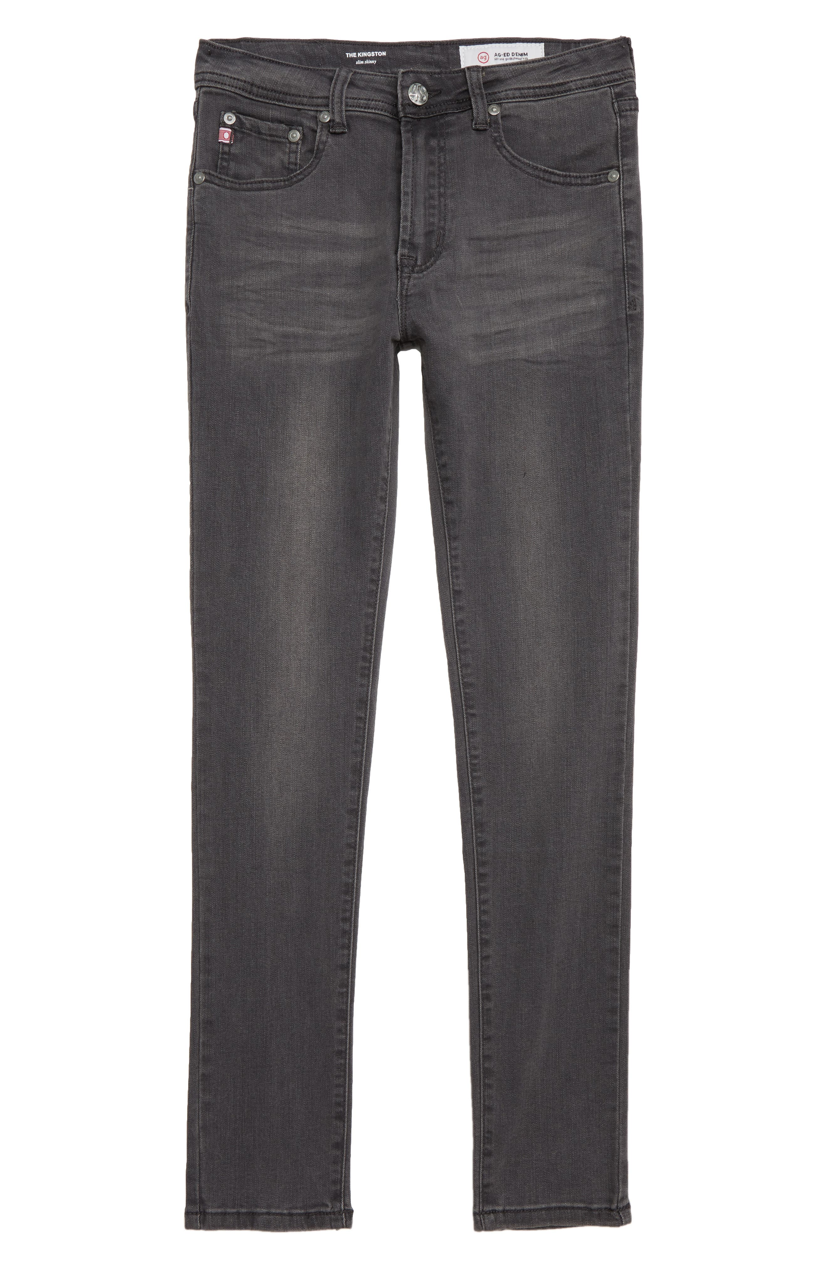 adriano goldschmied kids The Kingston Slim Jeans,                             Main thumbnail 1, color,                             FOG GREY
