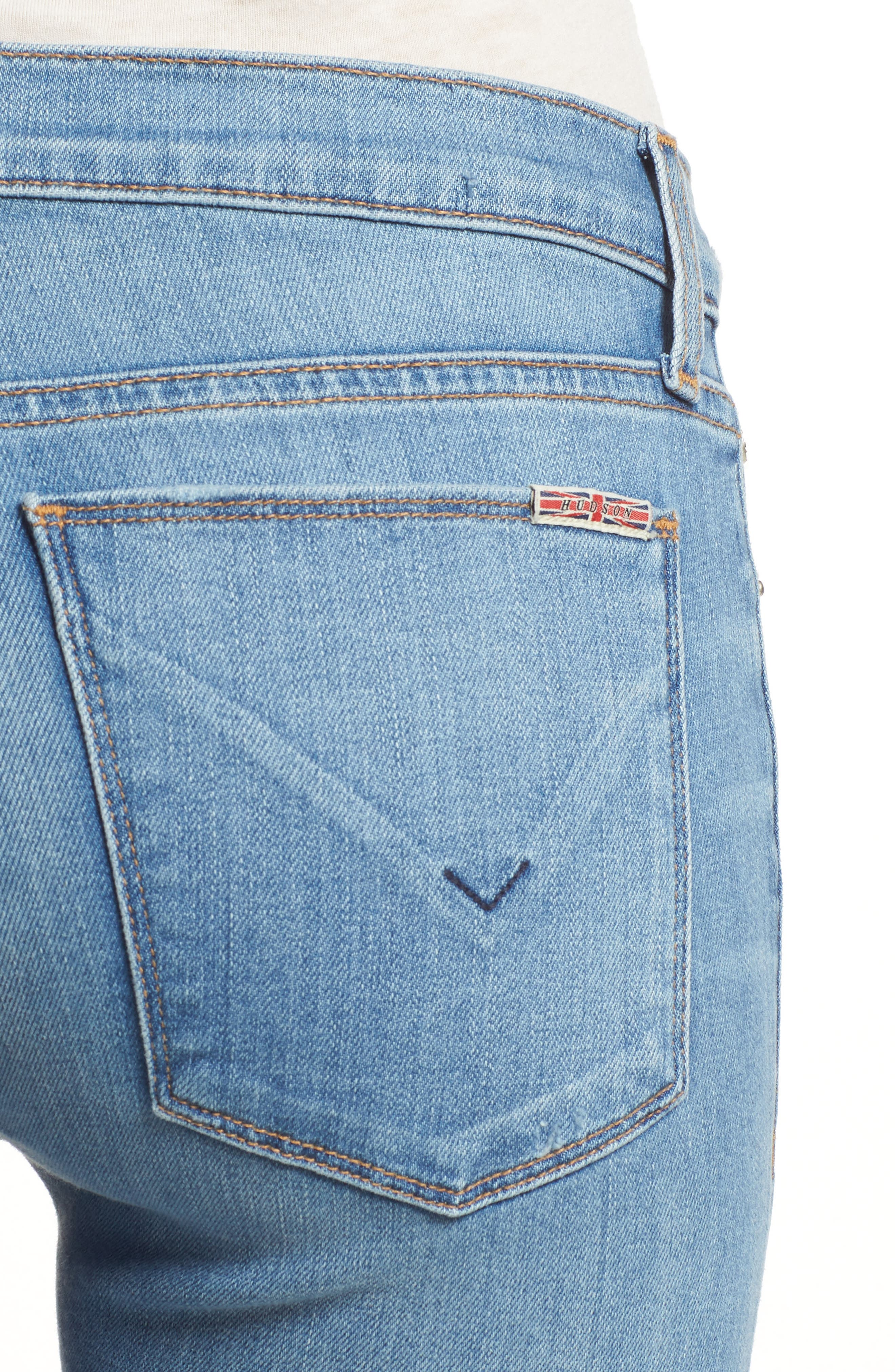 Krista Ankle Super Skinny Jeans,                             Alternate thumbnail 4, color,                             420