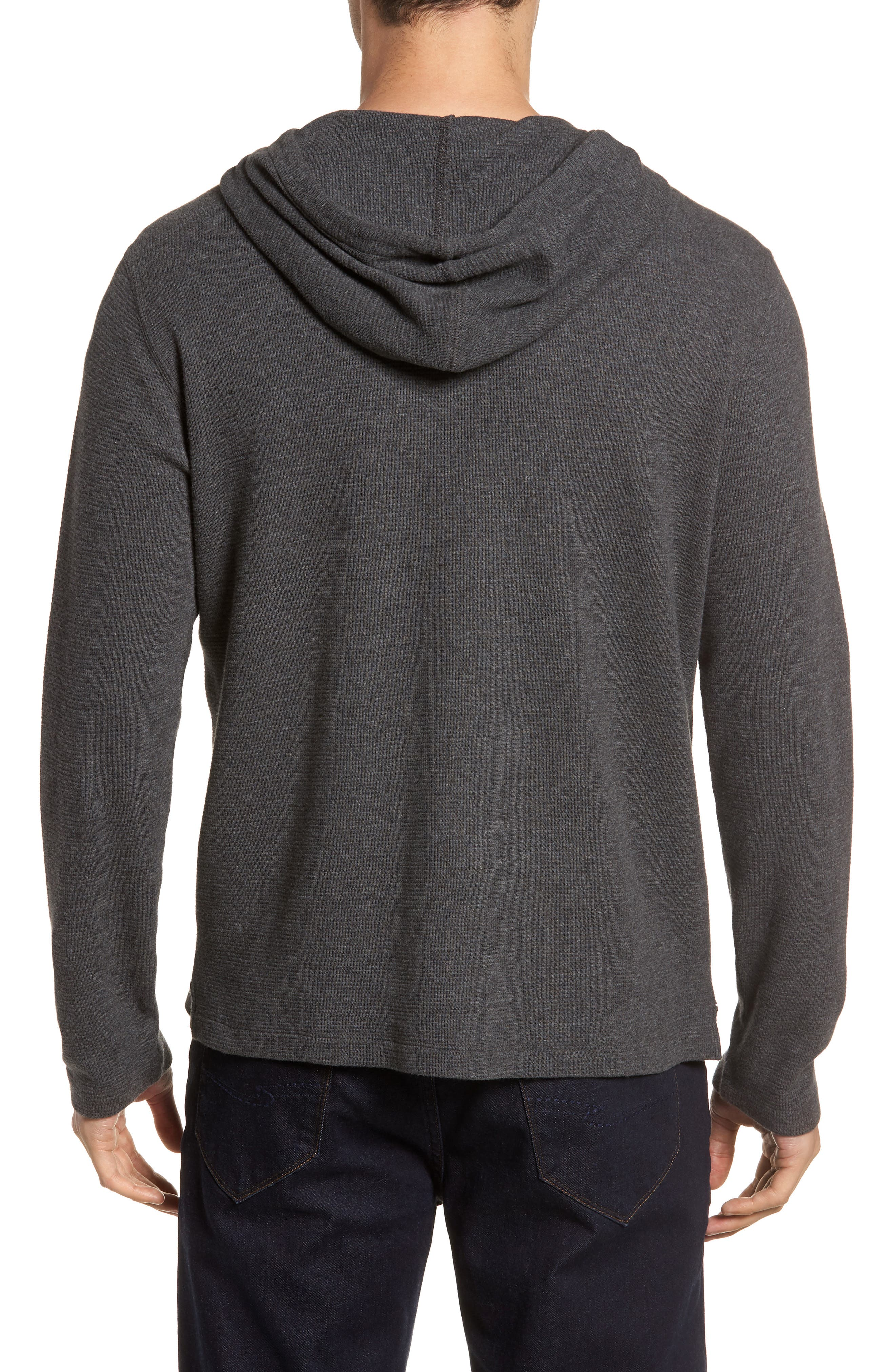 Wilson Pullover Hoodie,                             Alternate thumbnail 2, color,                             CHARCOAL