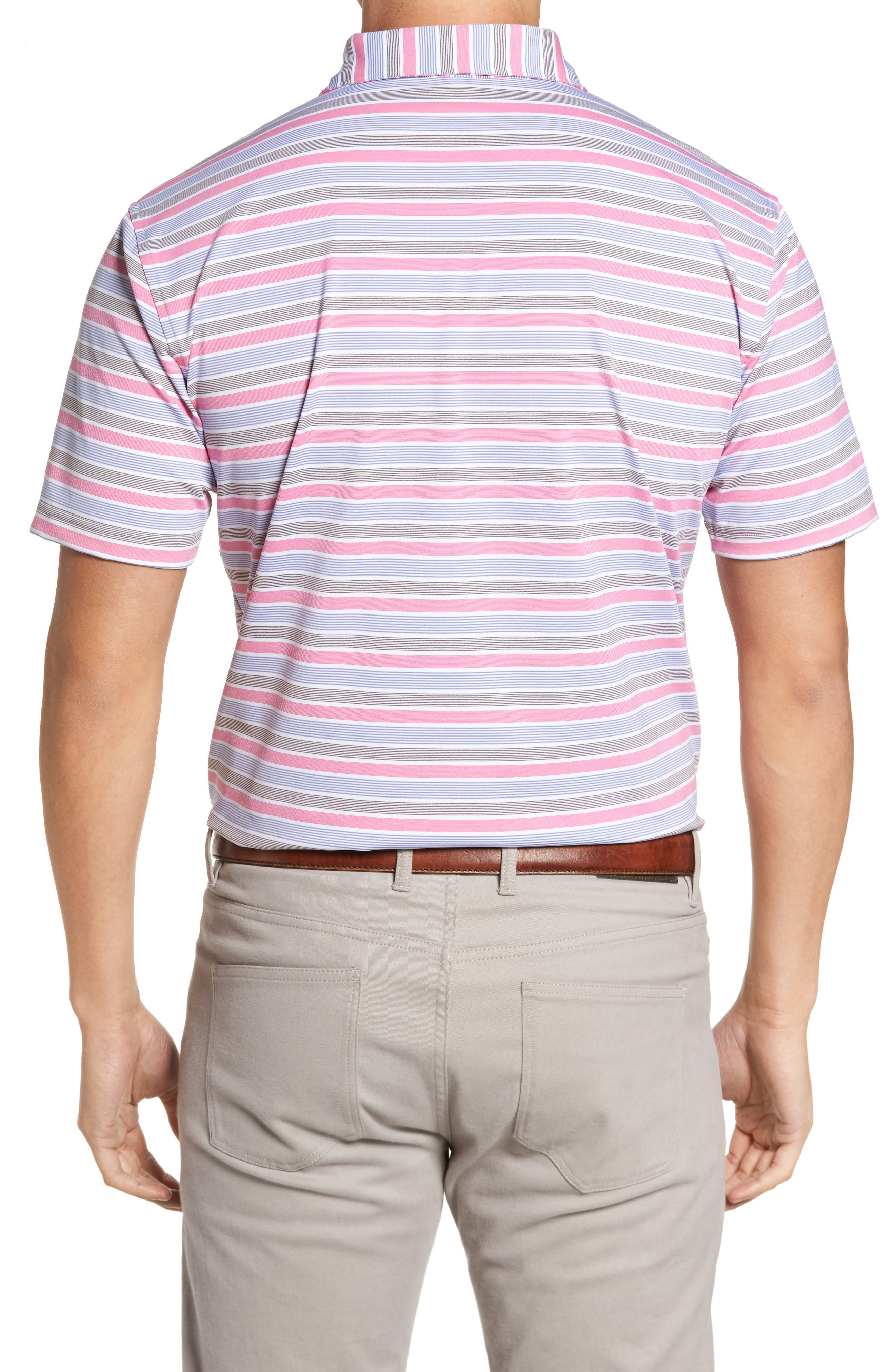 Blount Stripe Stretch Jersey Polo,                             Alternate thumbnail 3, color,