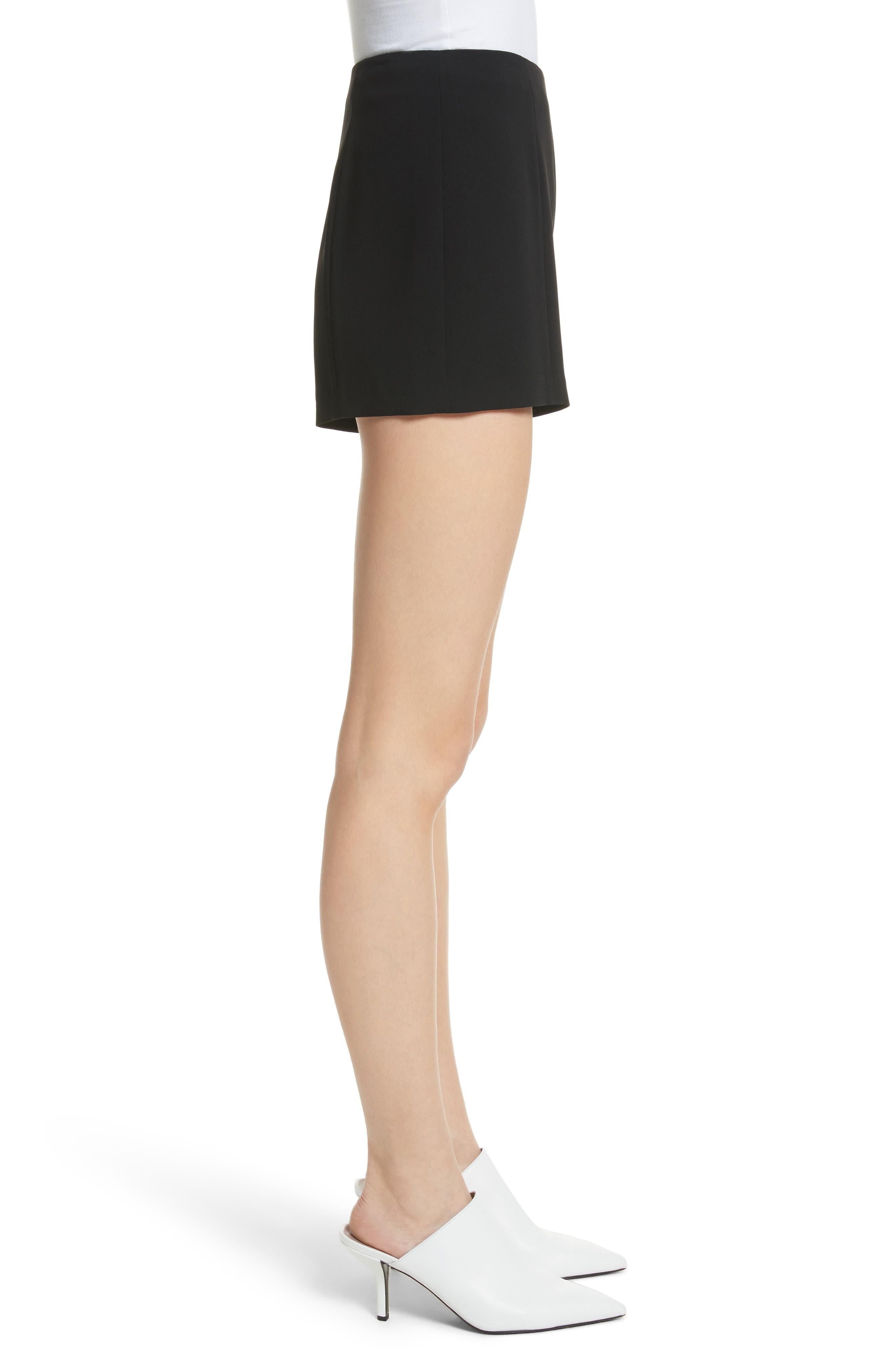 Kenzie Ruffle Side Shorts,                             Alternate thumbnail 3, color,                             001