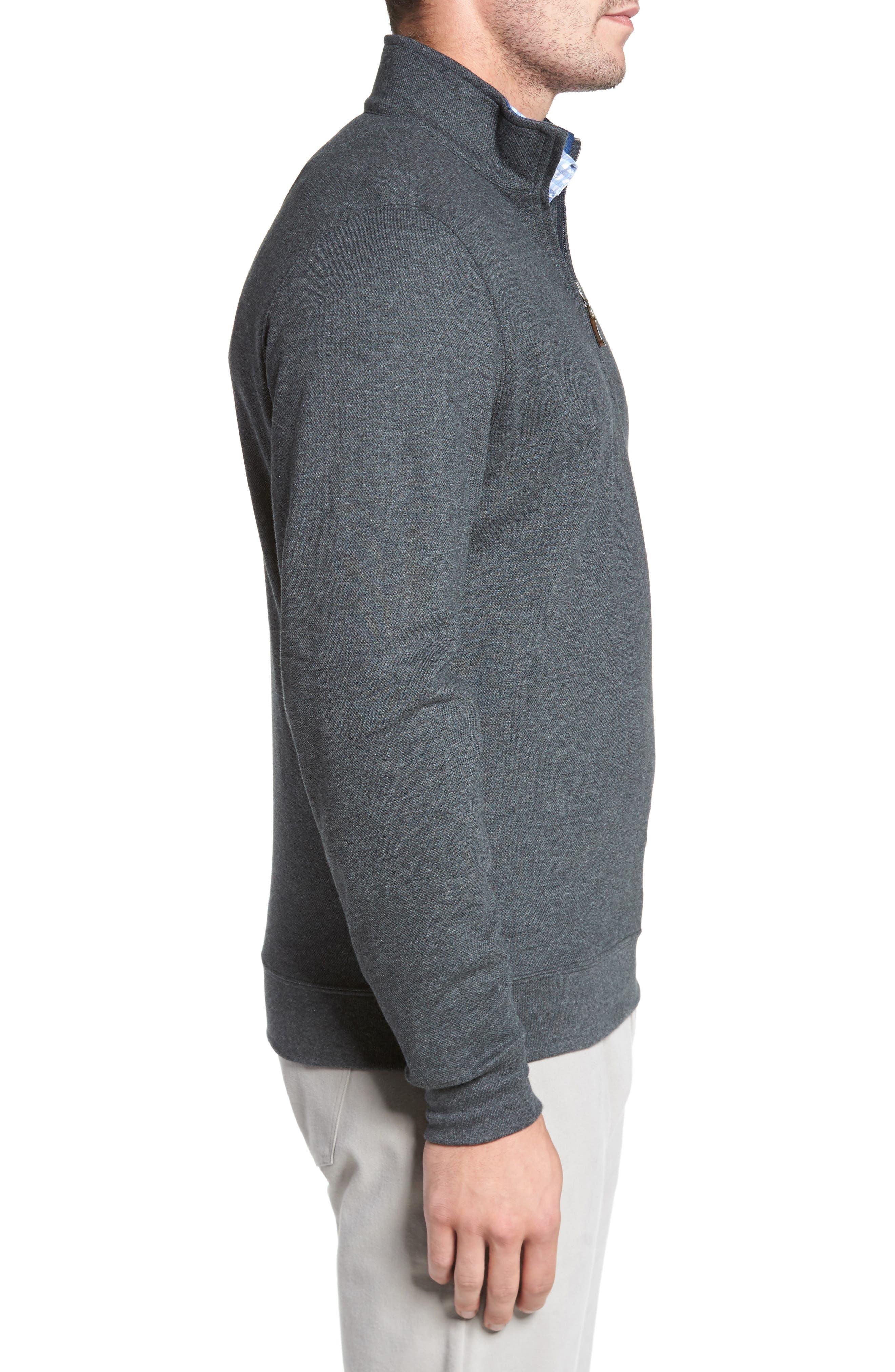 Mélange Quarter Zip Pullover,                             Alternate thumbnail 7, color,