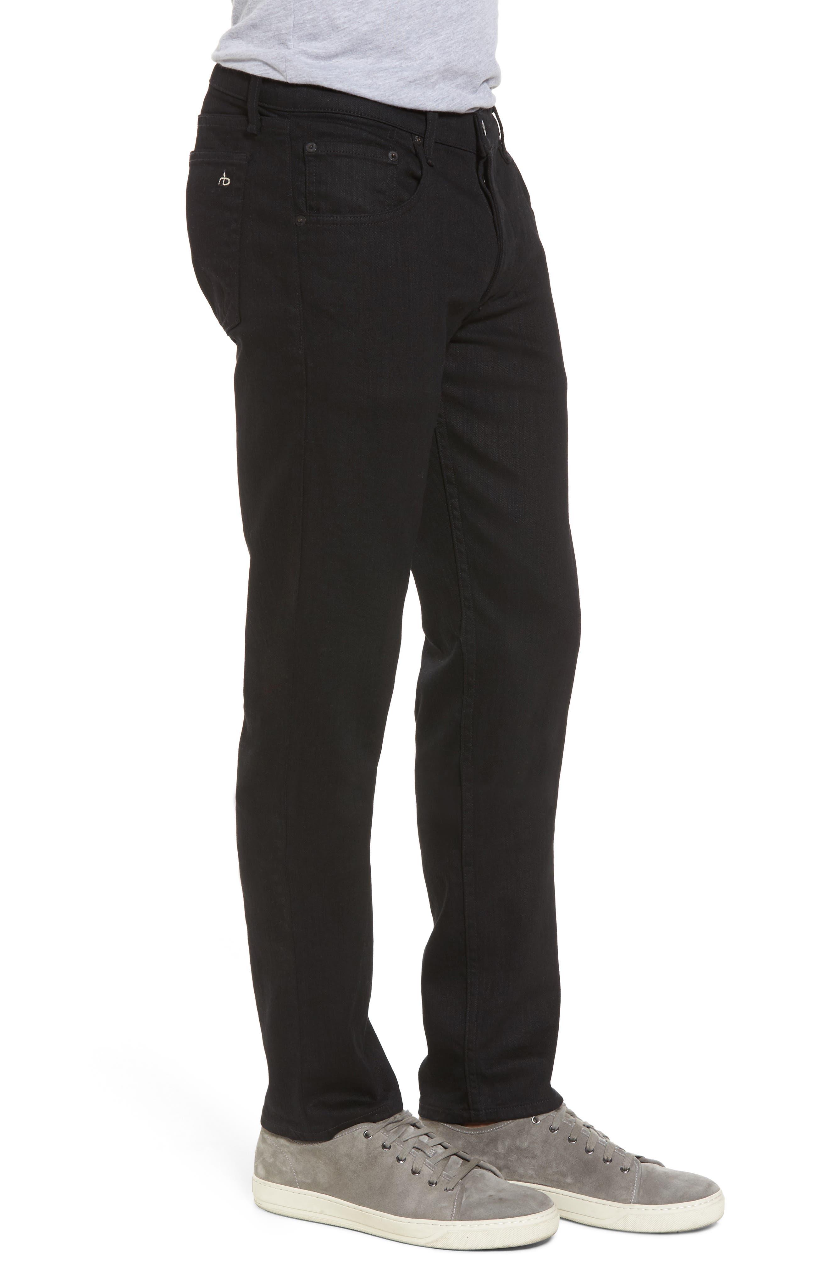 Fit 2 Slim Fit Jeans,                             Alternate thumbnail 3, color,                             BLACK