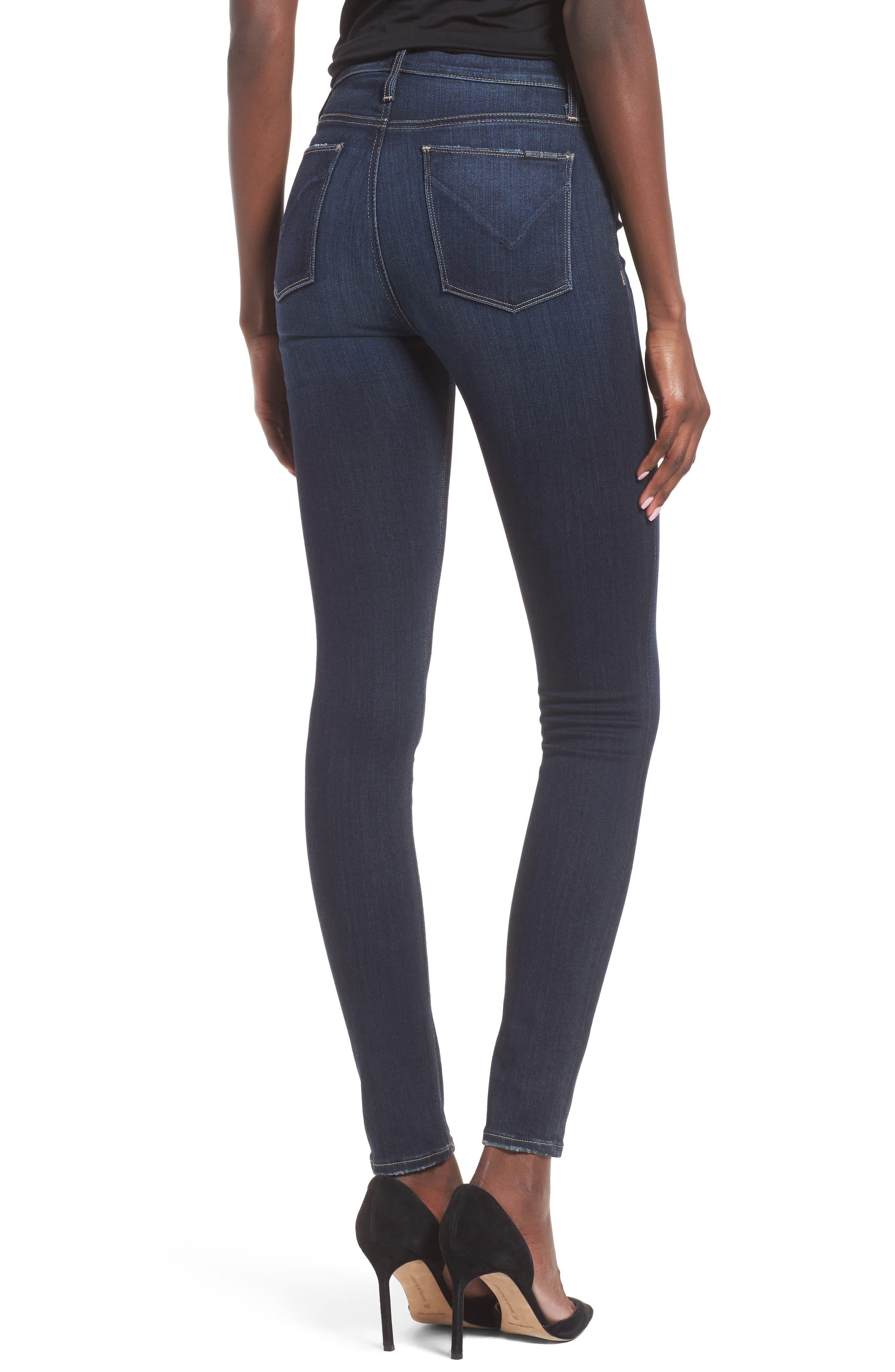 Barbara High Waist Super Skinny Jeans,                             Alternate thumbnail 4, color,