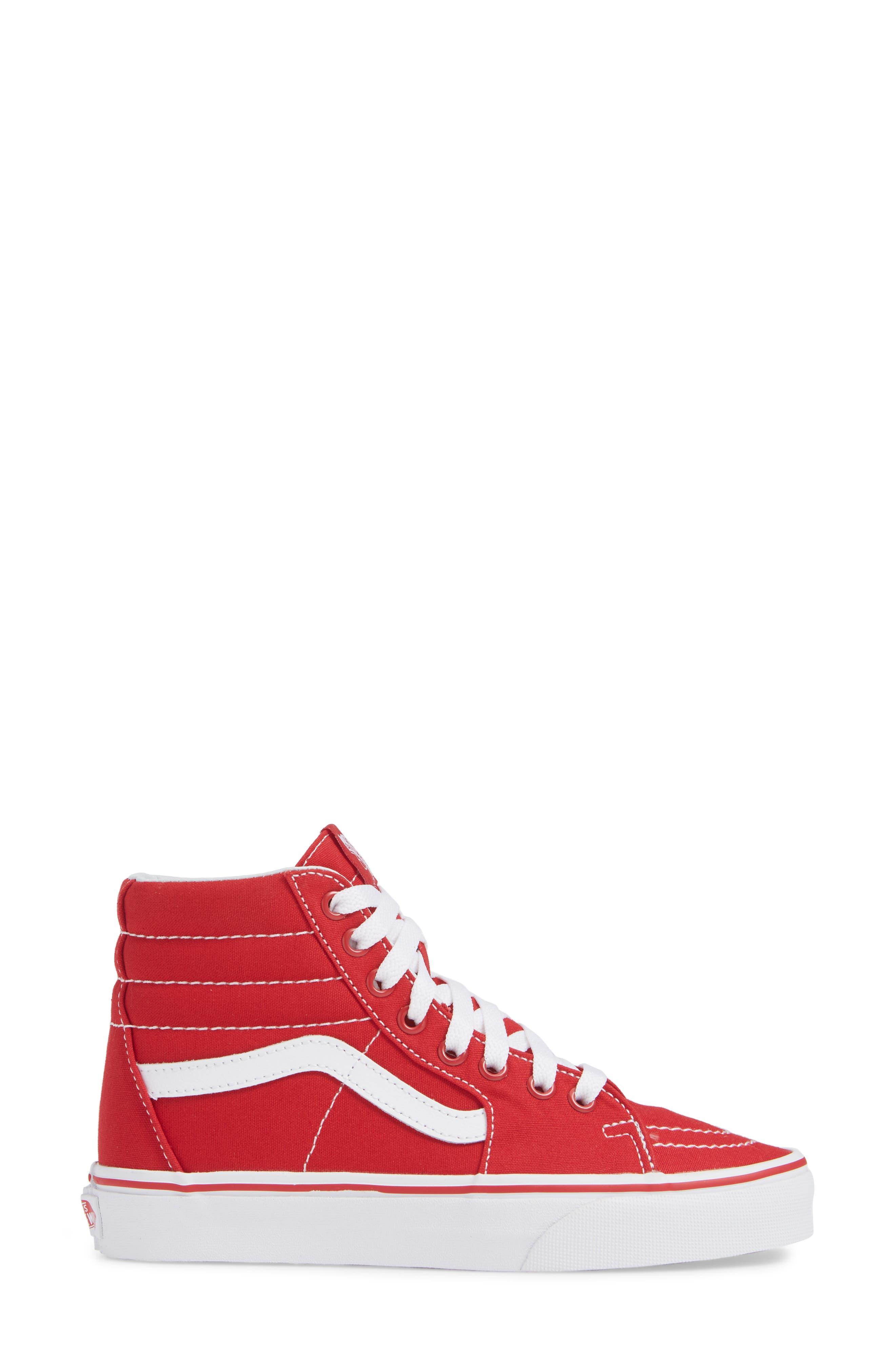 'Sk8-Hi' Sneaker,                             Alternate thumbnail 3, color,                             CANVAS FORMULA ONE