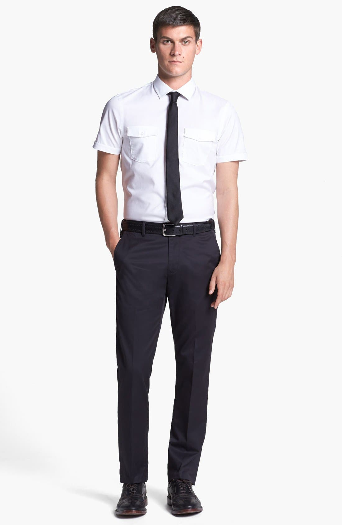 'Weekday Warriors' Non-Iron Slim Fit Cotton Chinos,                             Alternate thumbnail 6, color,                             001
