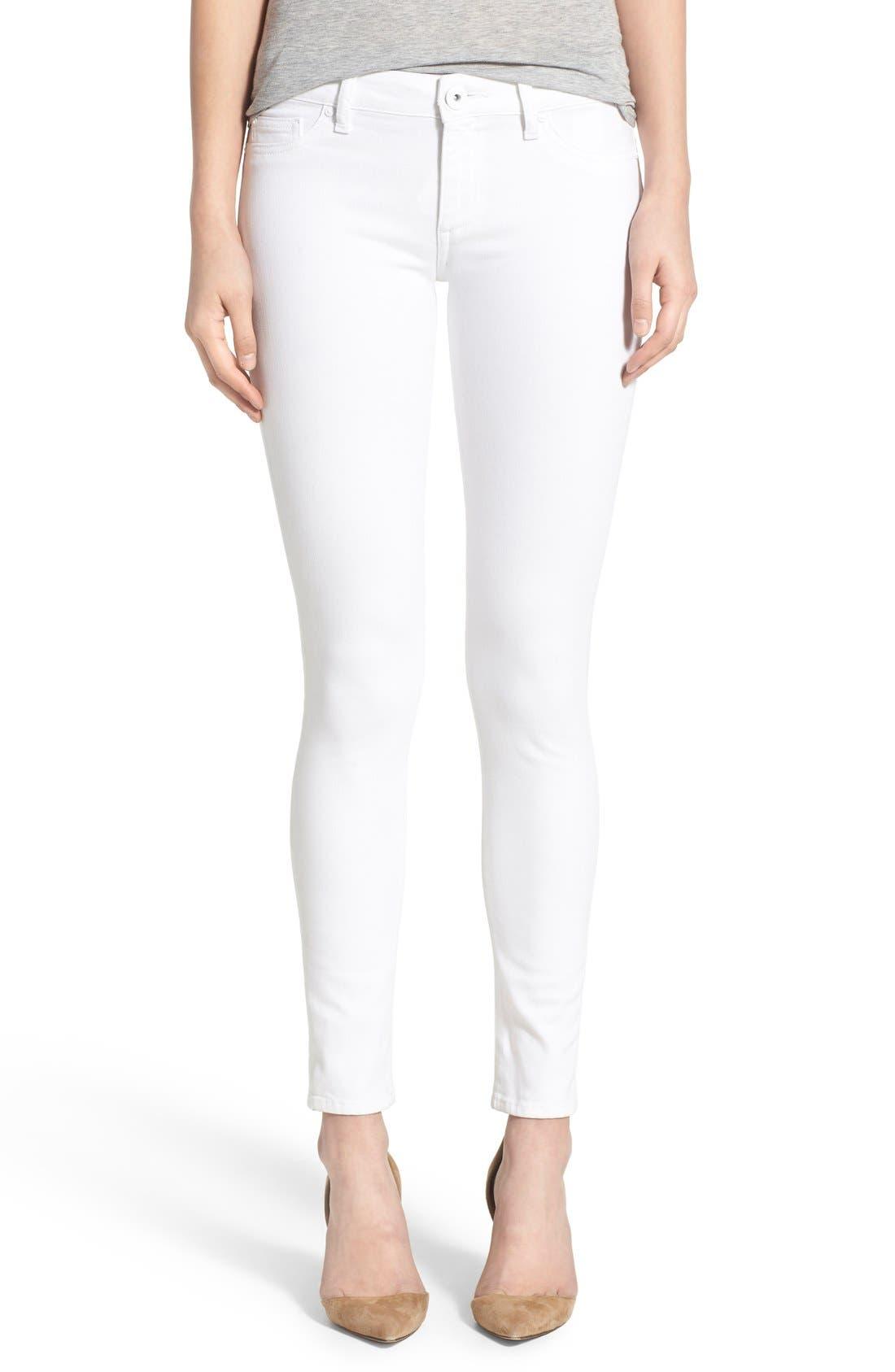 'Emma' Power Legging Jeans,                             Main thumbnail 1, color,                             PORCELAIN