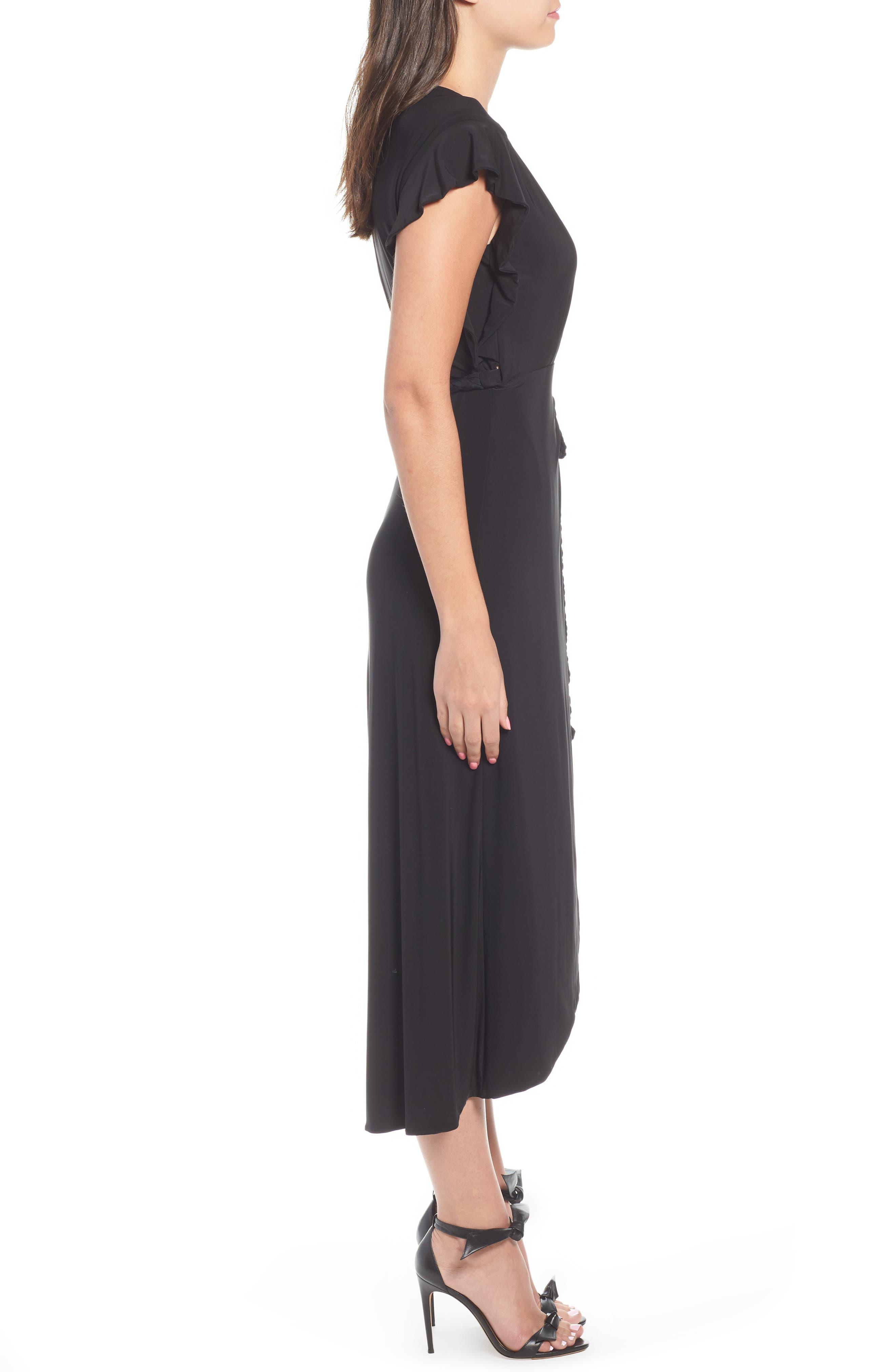 Irina Dress,                             Alternate thumbnail 3, color,                             BLACK