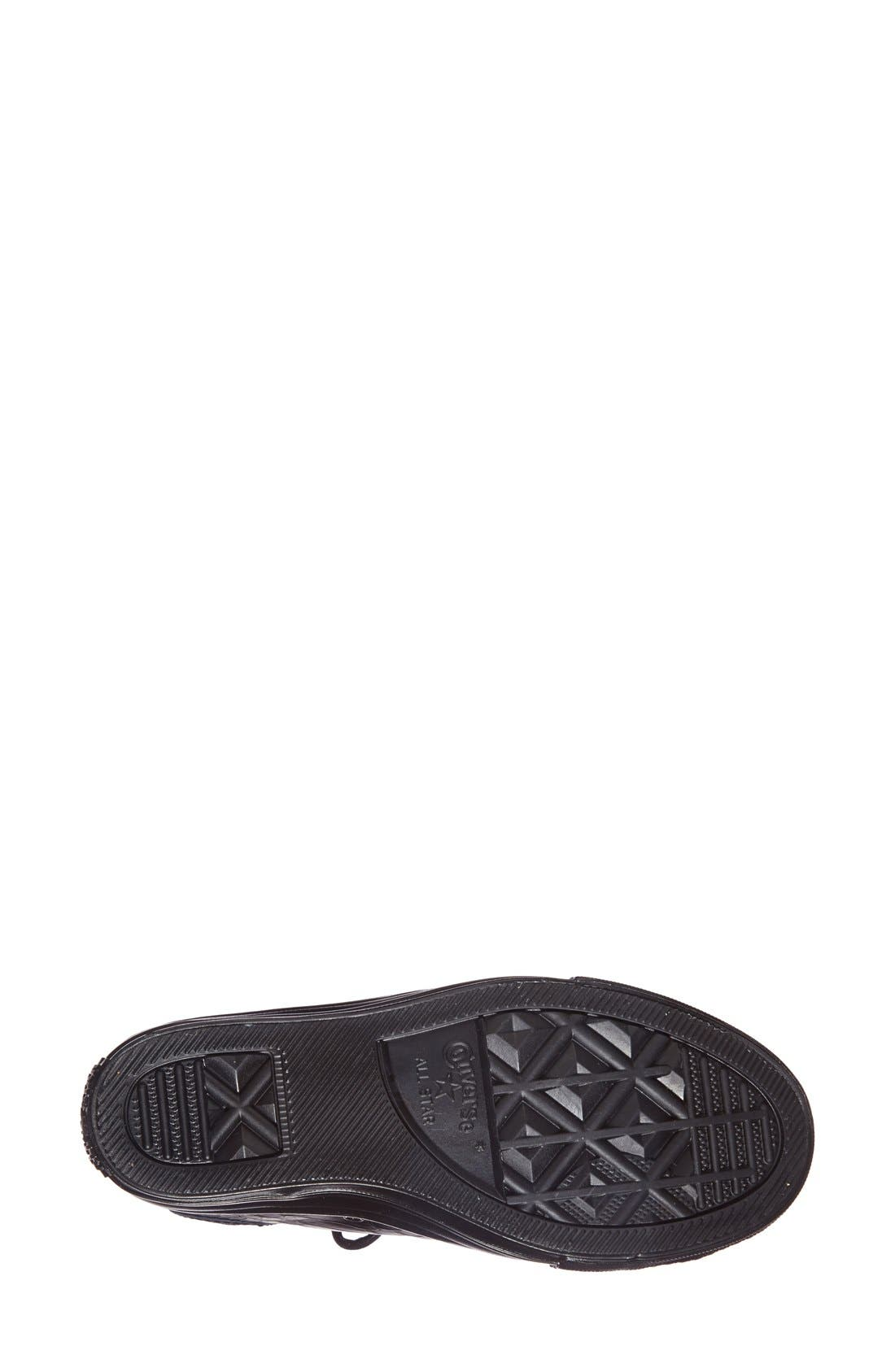 Chuck Taylor<sup>®</sup> All Star<sup>®</sup> 'Embossed Reptile' Wedge Sneaker,                             Alternate thumbnail 4, color,                             001