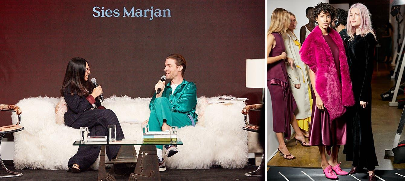 Designer Sander Lak discusses his brand, Sies Marjan, on stage at Nordstrom Live.
