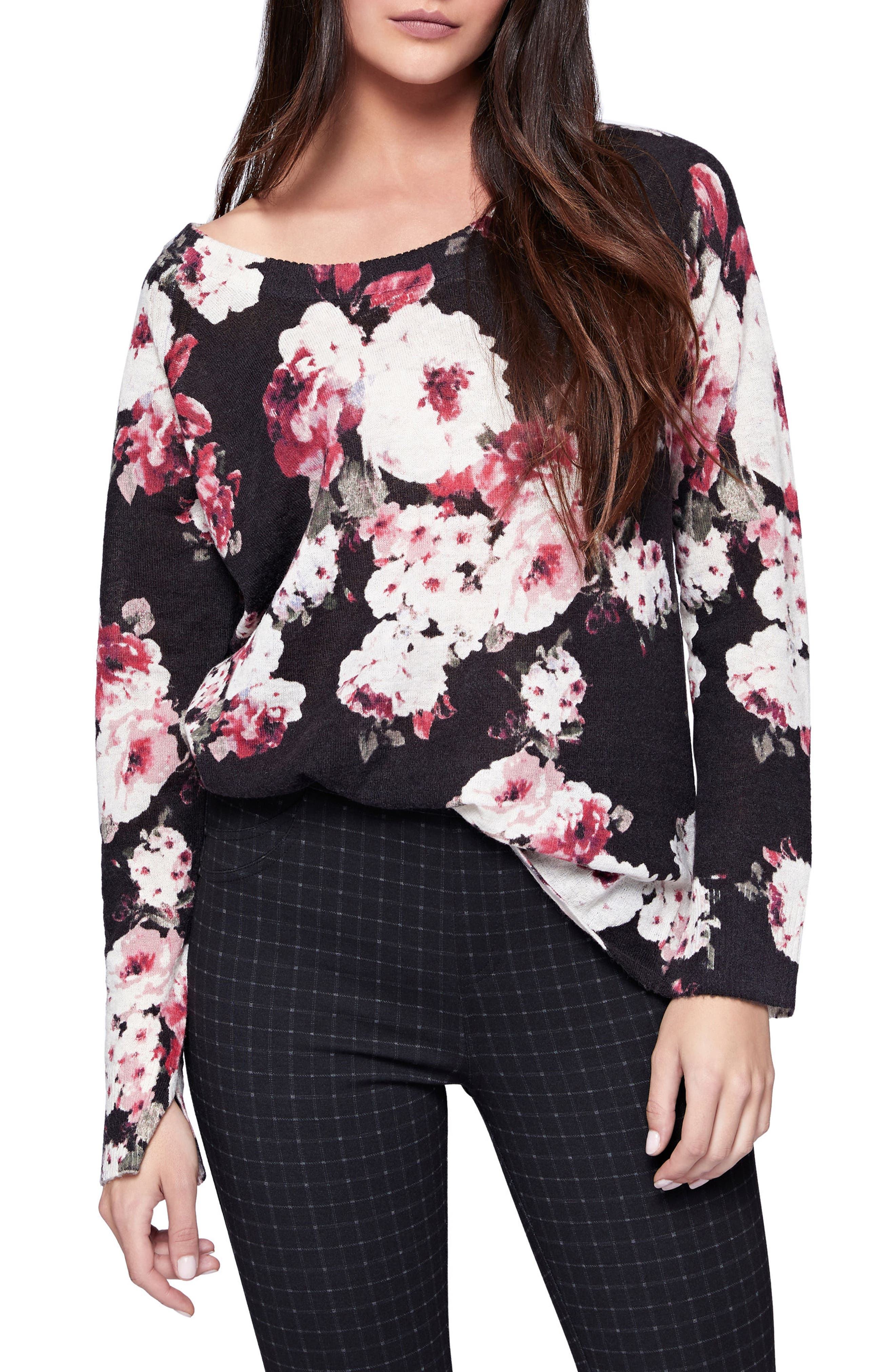 Rose Bloom Sweater,                             Main thumbnail 1, color,