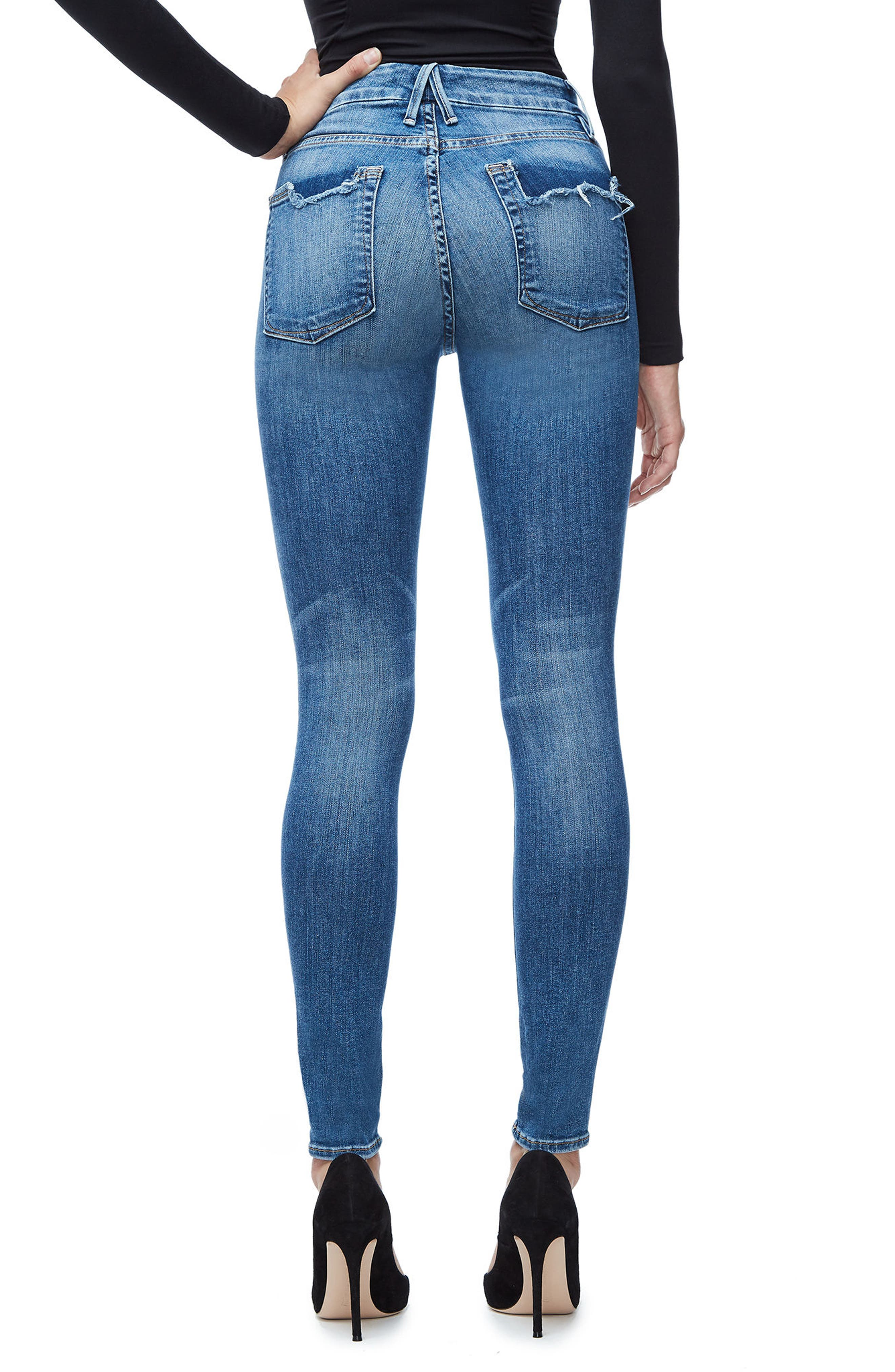 Good Legs High Waist Skinny Jeans (Blue 107),                             Alternate thumbnail 3, color,                             401