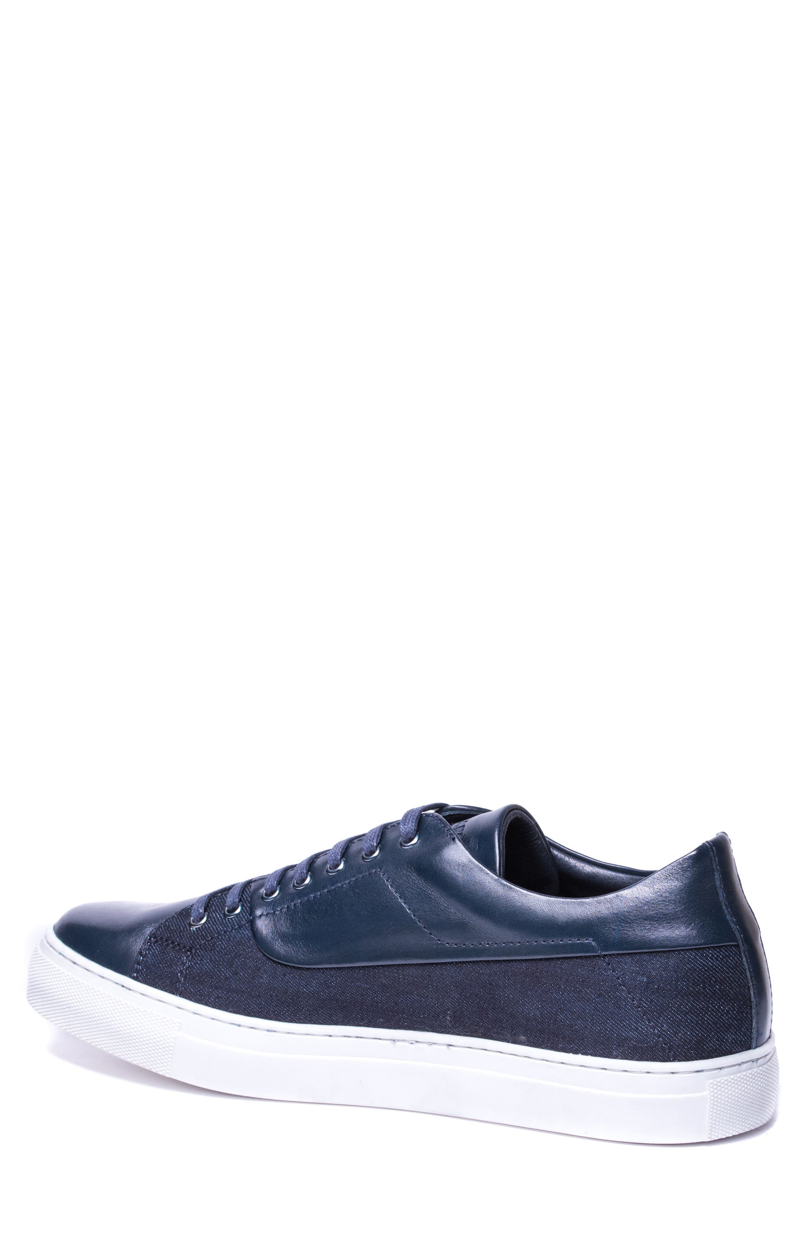 Luke Low Top Sneaker,                             Alternate thumbnail 2, color,                             NAVY LEATHER
