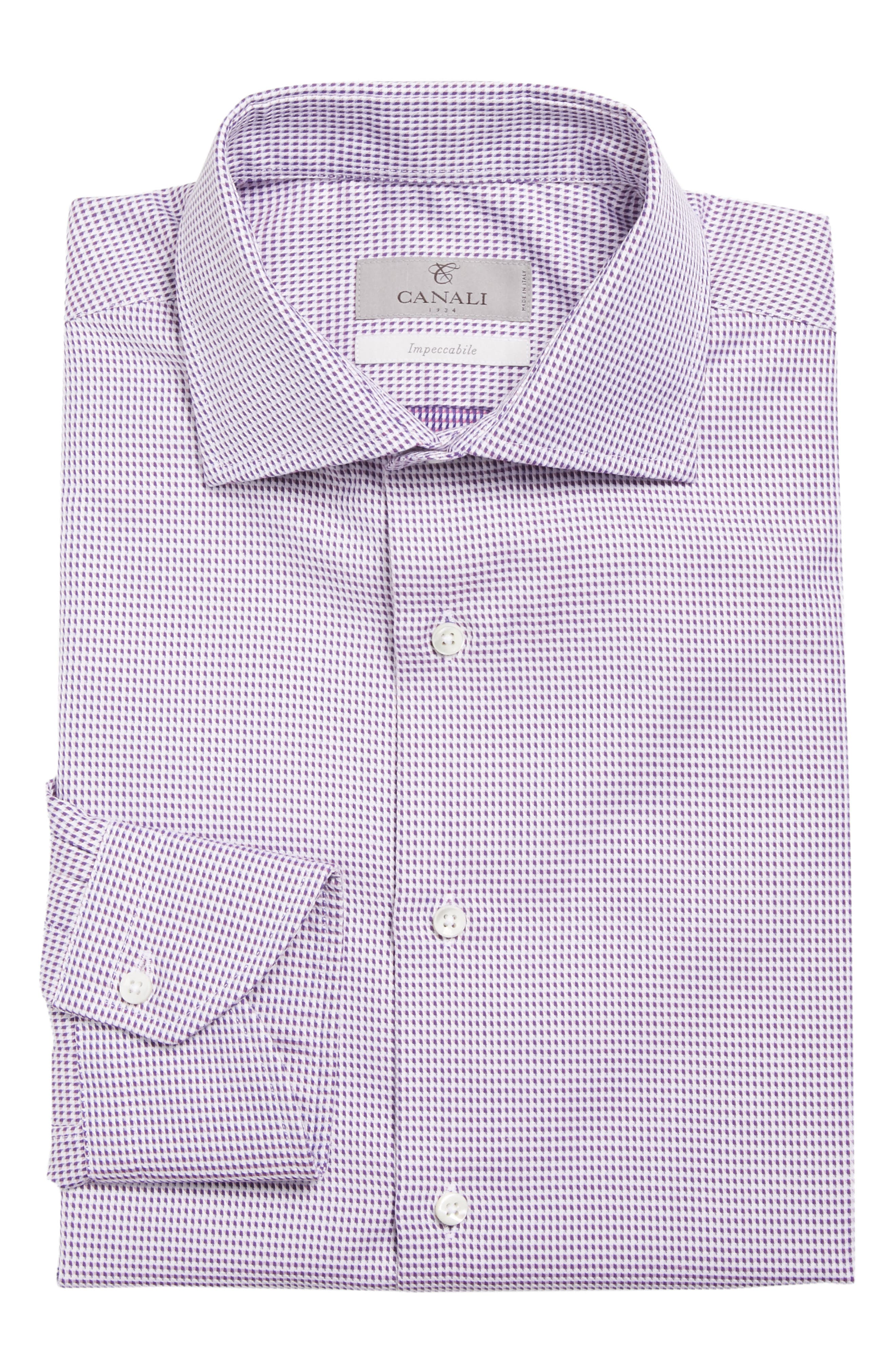 Regular Fit Print Dress Shirt,                             Alternate thumbnail 5, color,                             501