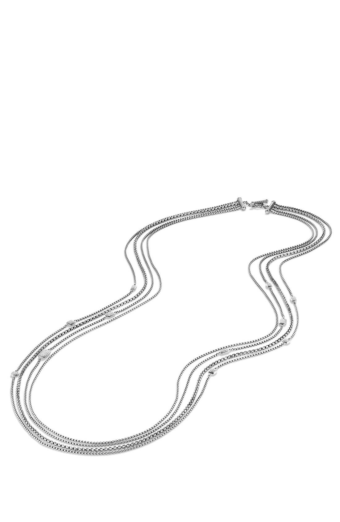 'Confetti' Station Necklace with Diamonds,                             Alternate thumbnail 4, color,                             040