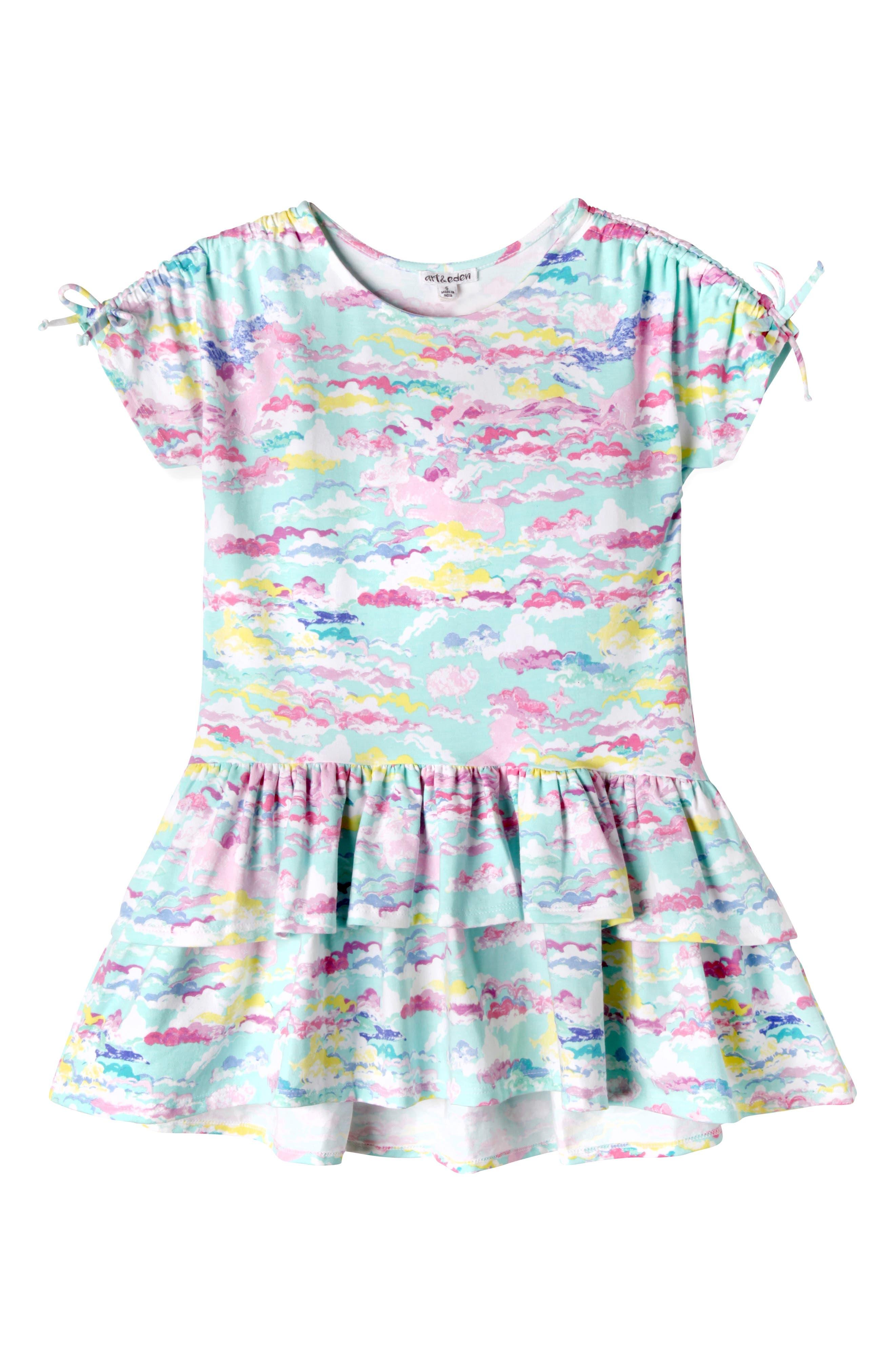 Meadow Ruffle Hem Dress,                             Main thumbnail 1, color,                             463