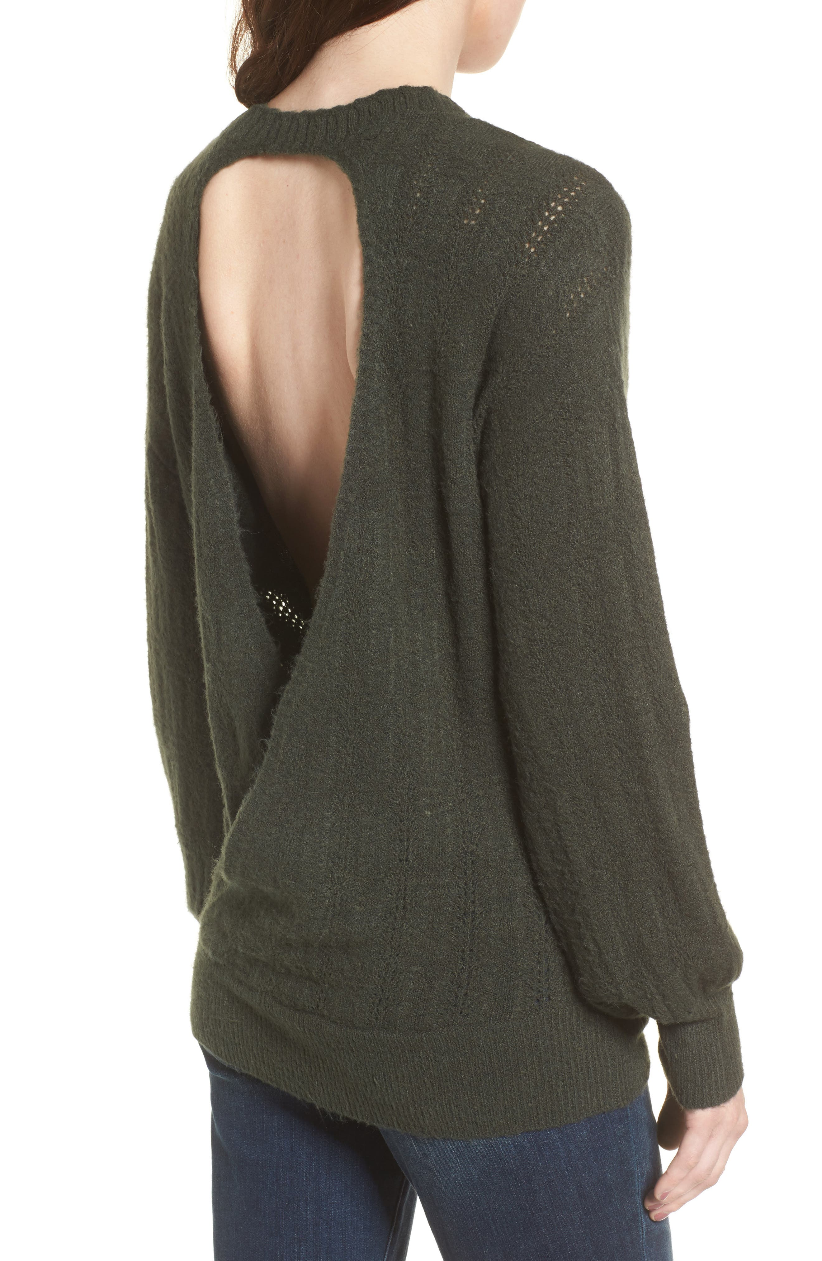 Open Back Sweater,                             Alternate thumbnail 5, color,