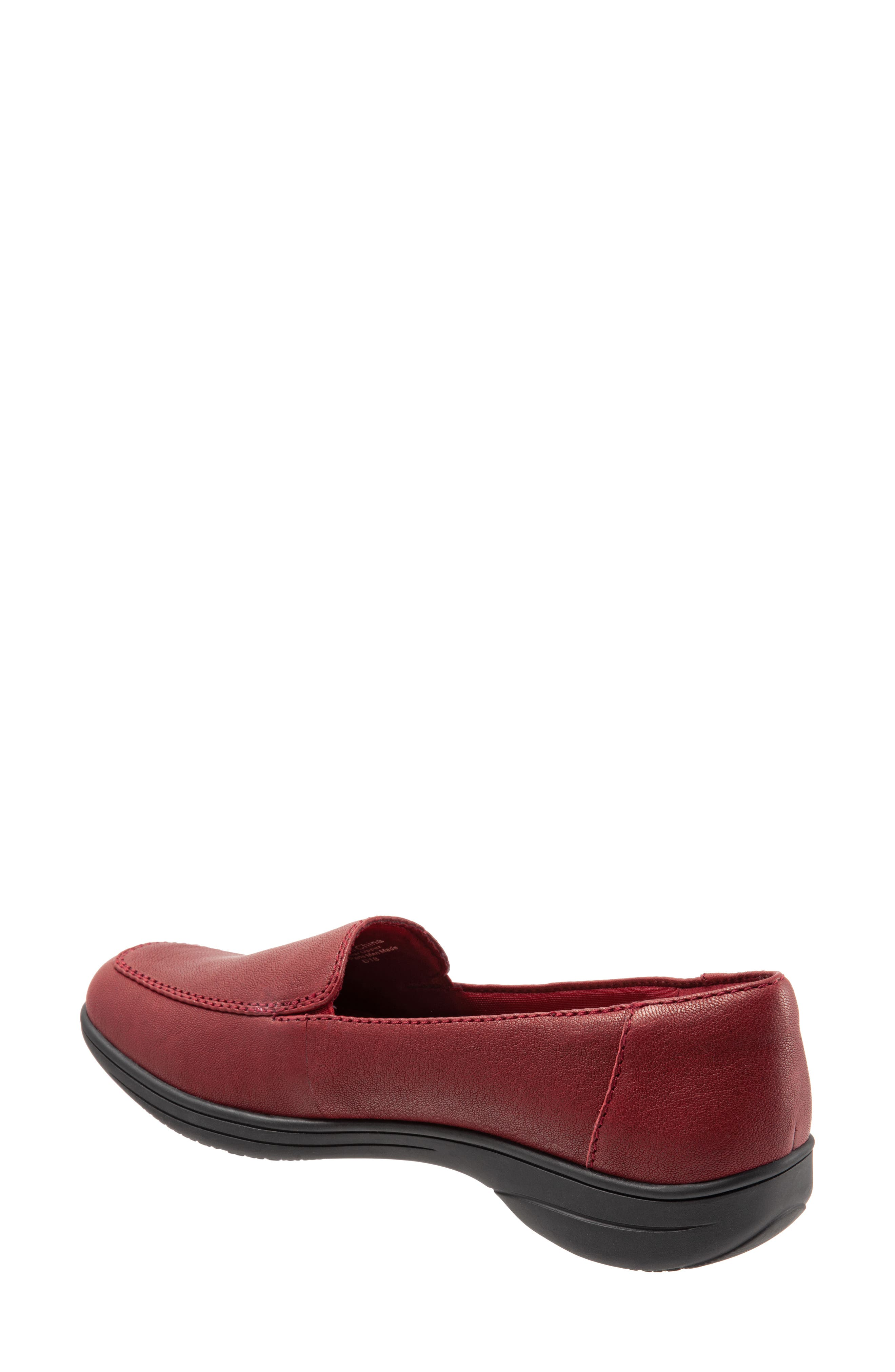 Jacob Loafer,                             Alternate thumbnail 2, color,                             DARK RED LEATHER