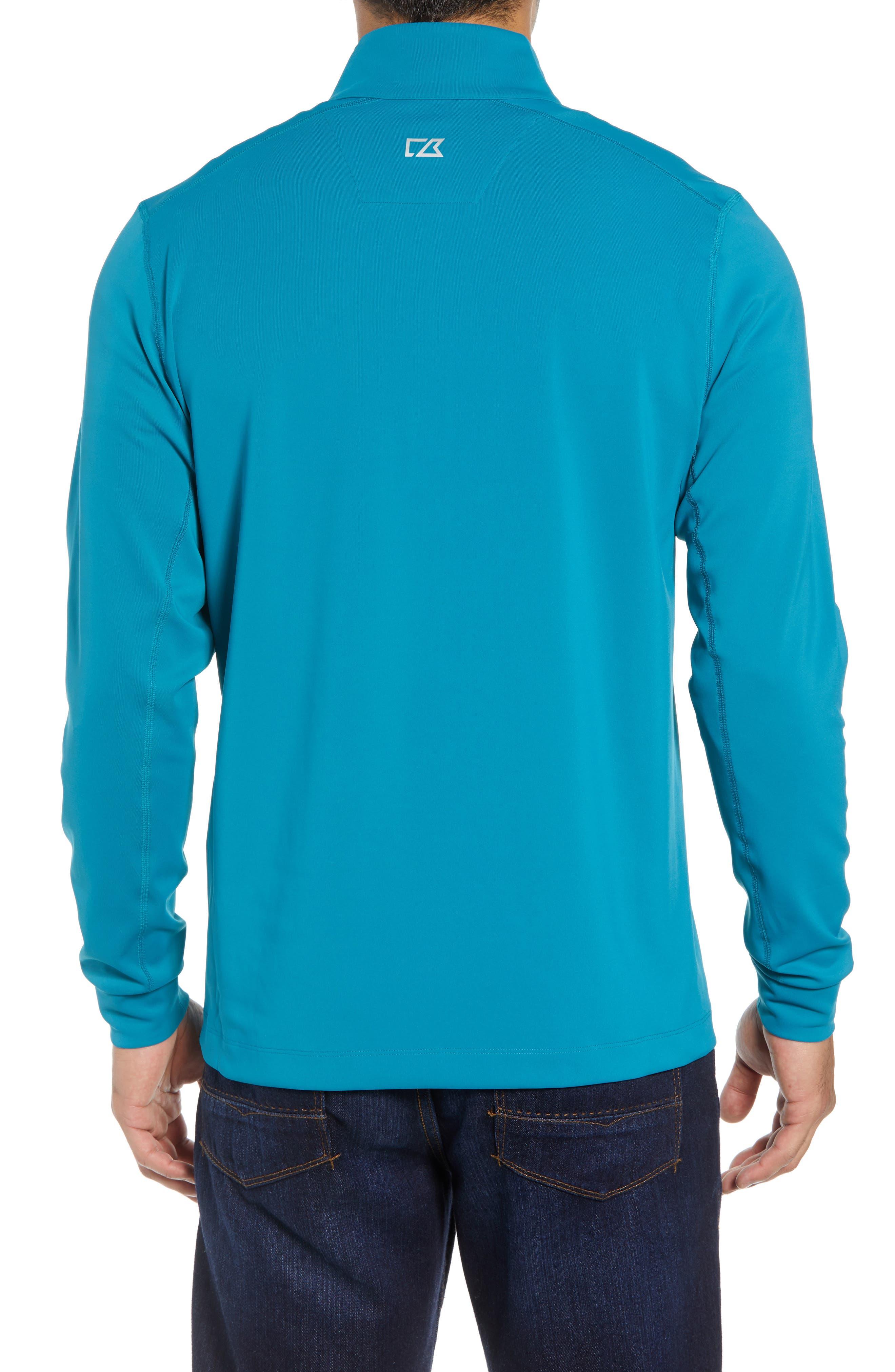 Traverse Regular Fit Quarter Zip Pullover,                             Alternate thumbnail 2, color,                             TEAL BLUE