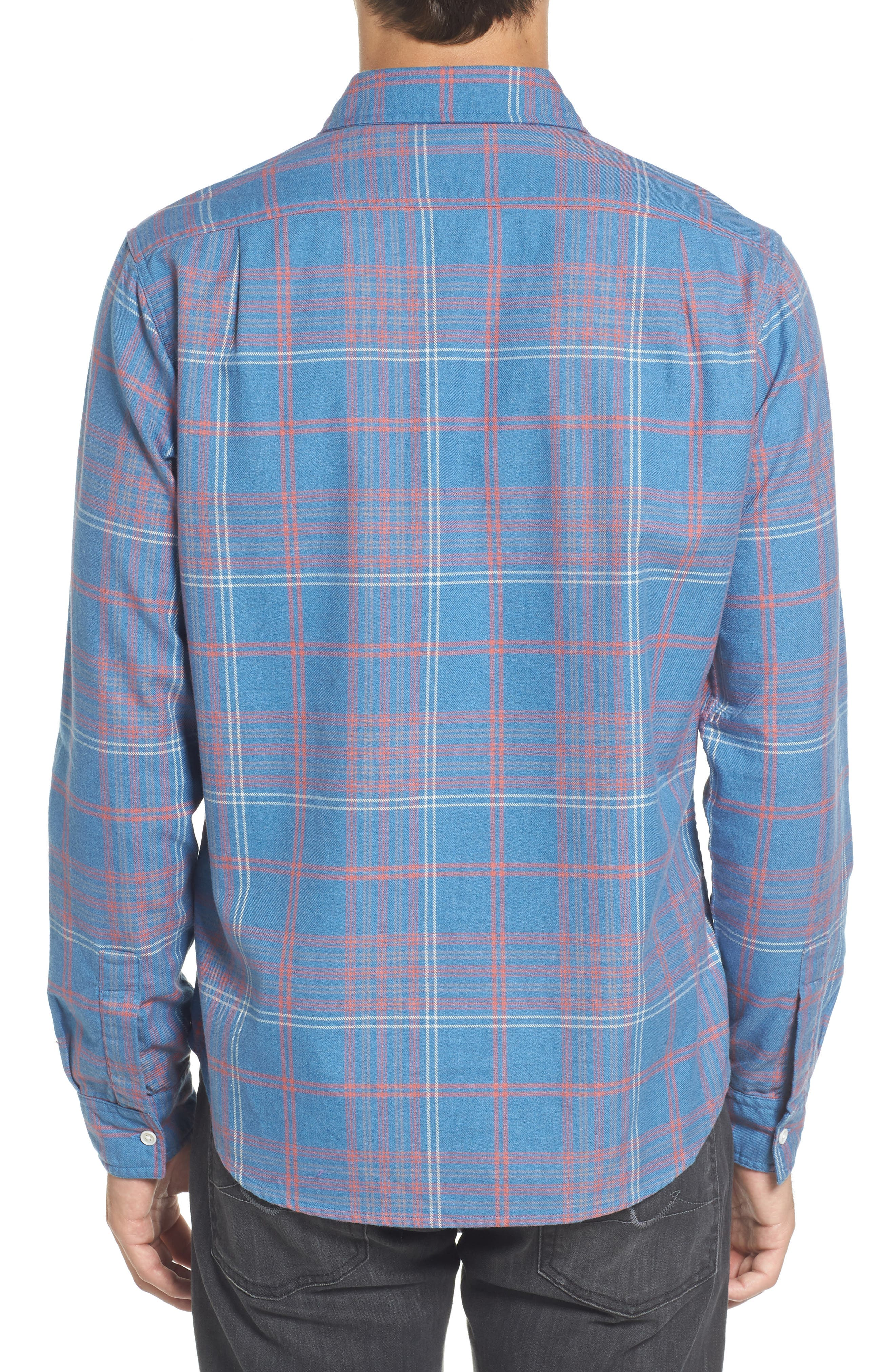Slim Fit Plaid Flannel Sport Shirt,                             Alternate thumbnail 2, color,                             400