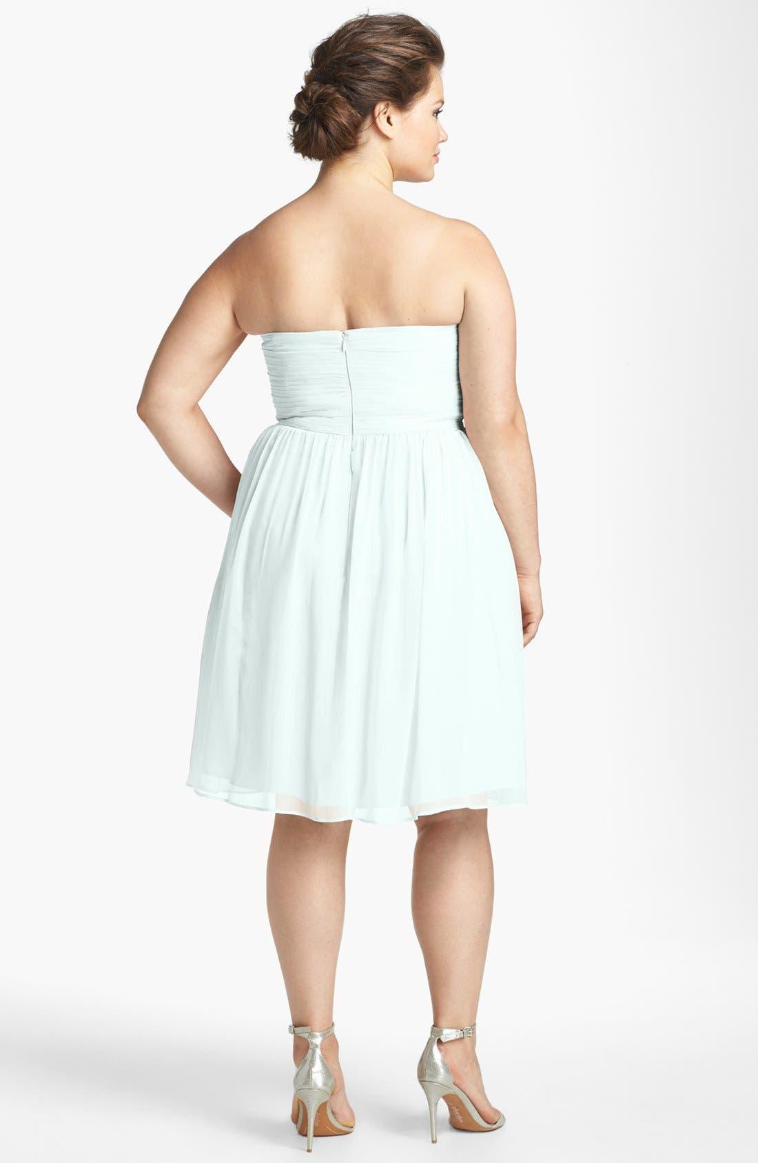 'Morgan' Strapless Silk Chiffon Dress,                             Alternate thumbnail 130, color,