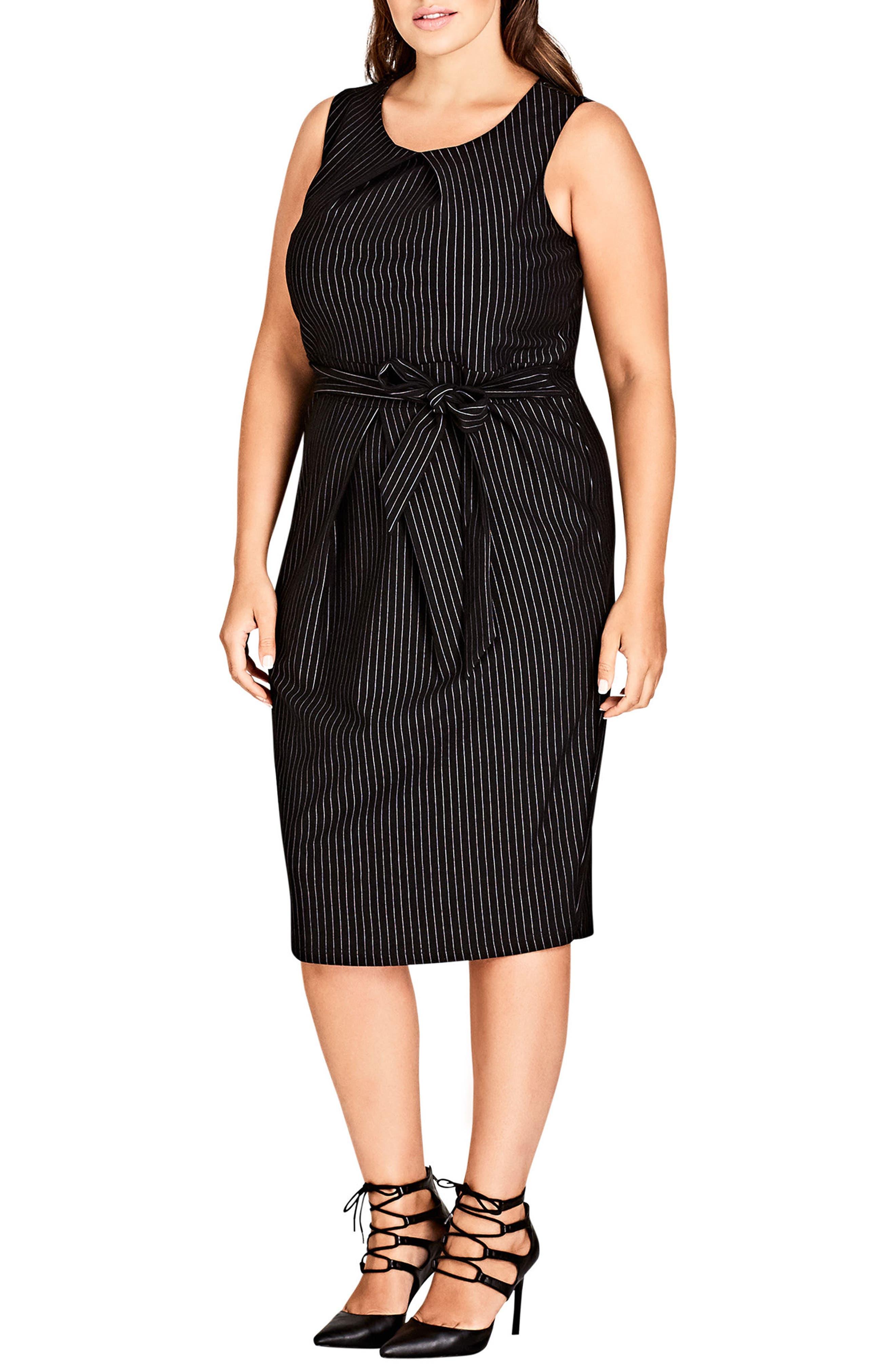 Aster Stripe Sheath Dress,                             Main thumbnail 1, color,                             PIN STRIPE