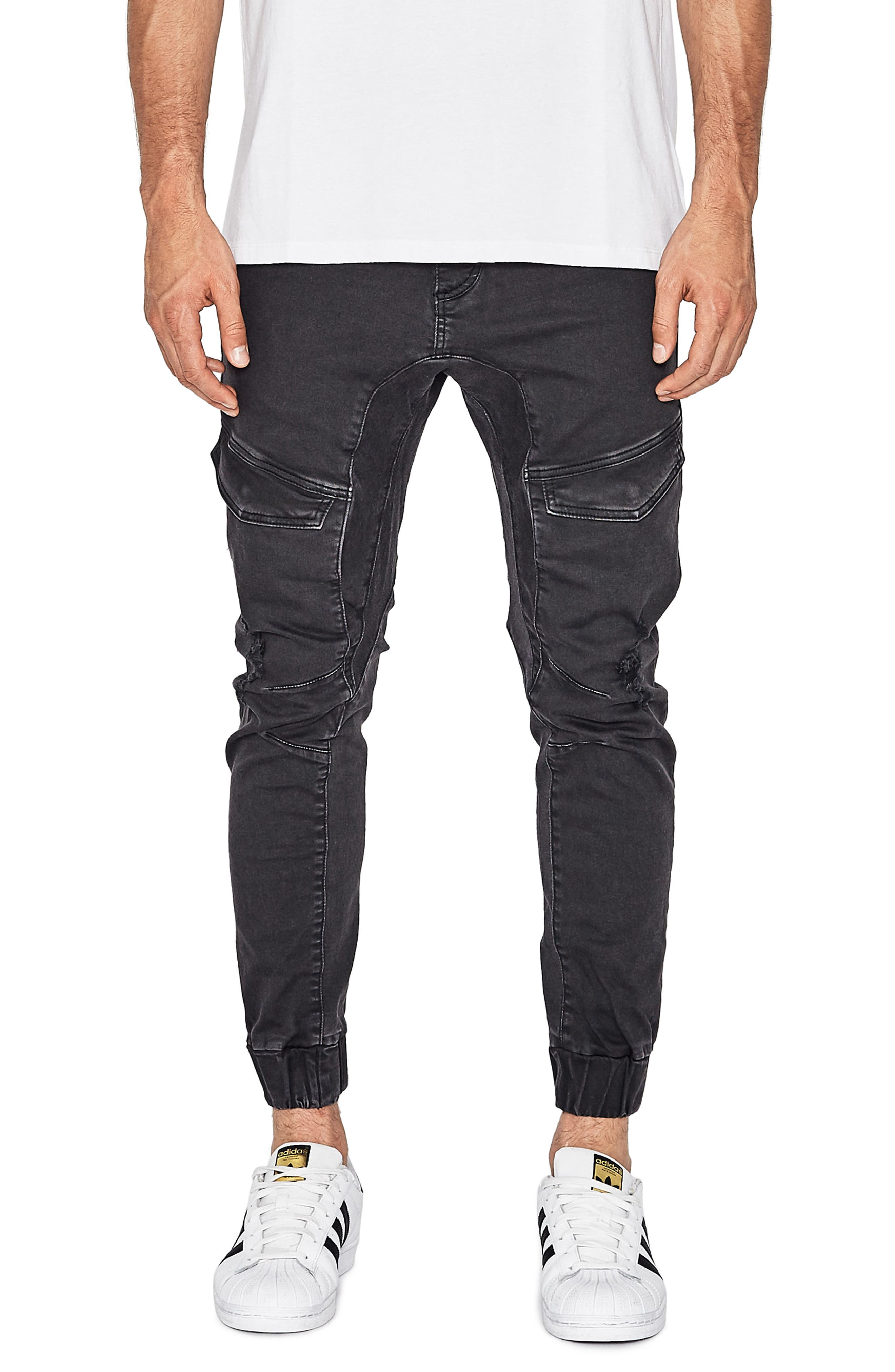Flight Skinny Denim Jogger Pants,                             Main thumbnail 3, color,