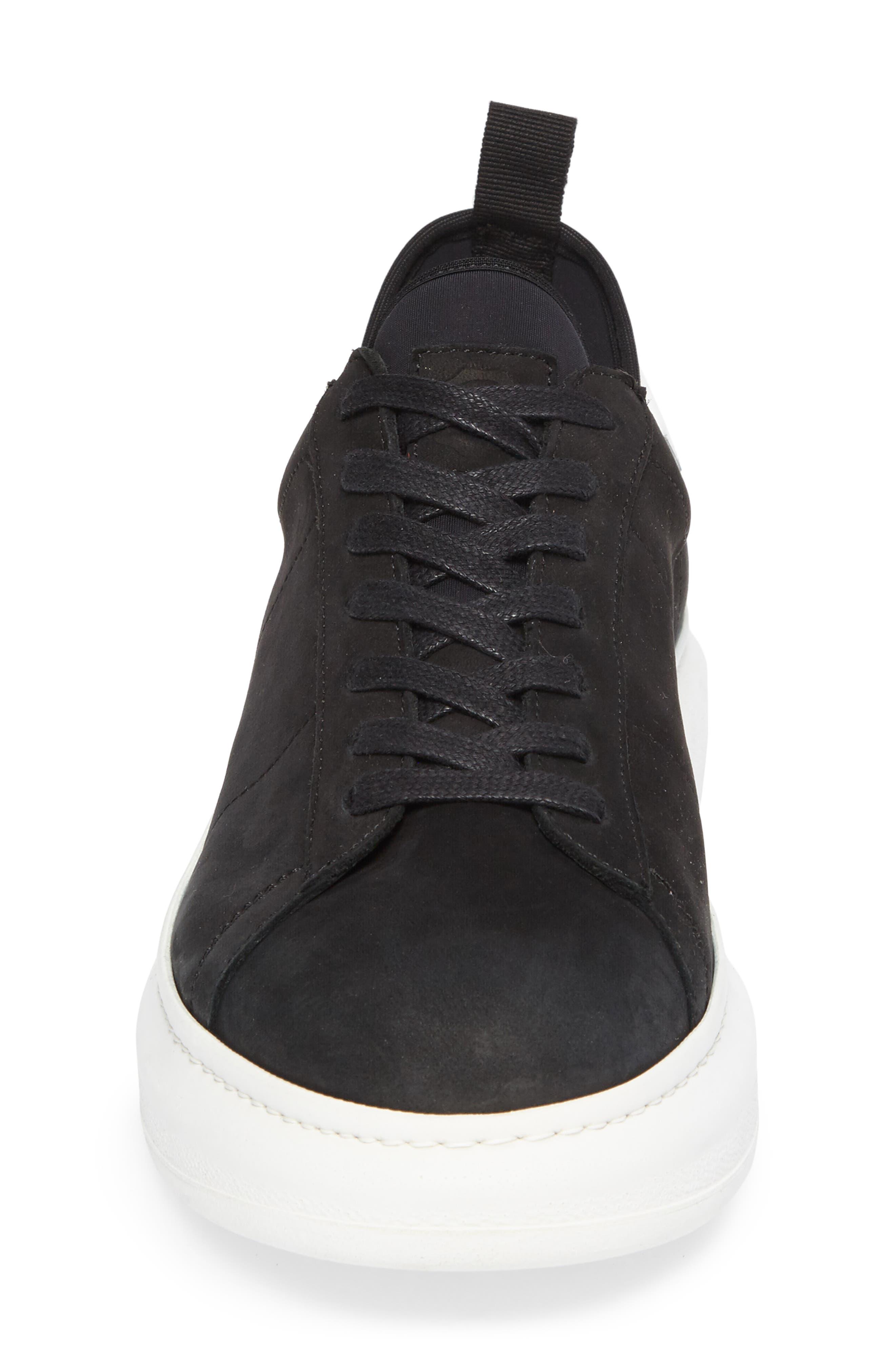 Alta Low Top Sneaker,                             Alternate thumbnail 4, color,                             BLACK NUBUCK LEATHER