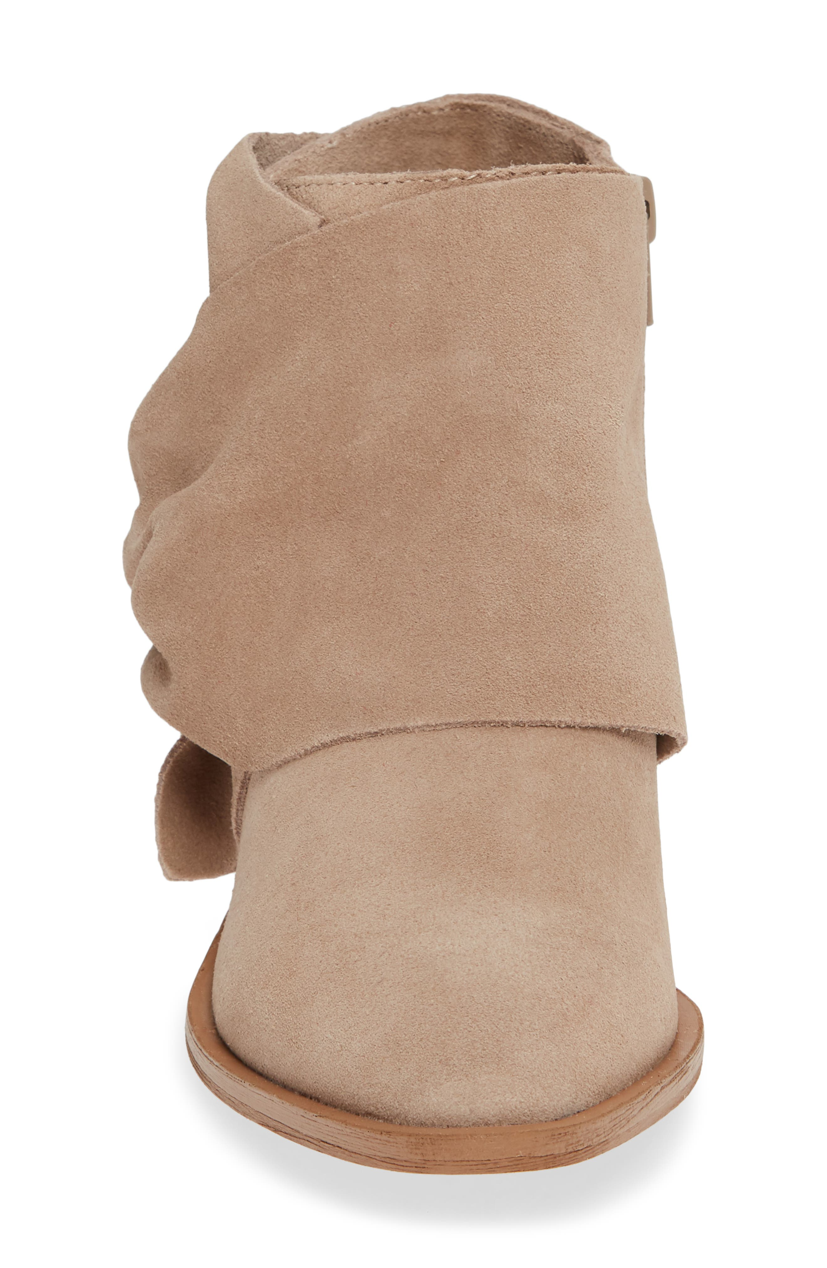 Natalyia Bootie,                             Alternate thumbnail 4, color,                             WARM TAUPE SUEDE