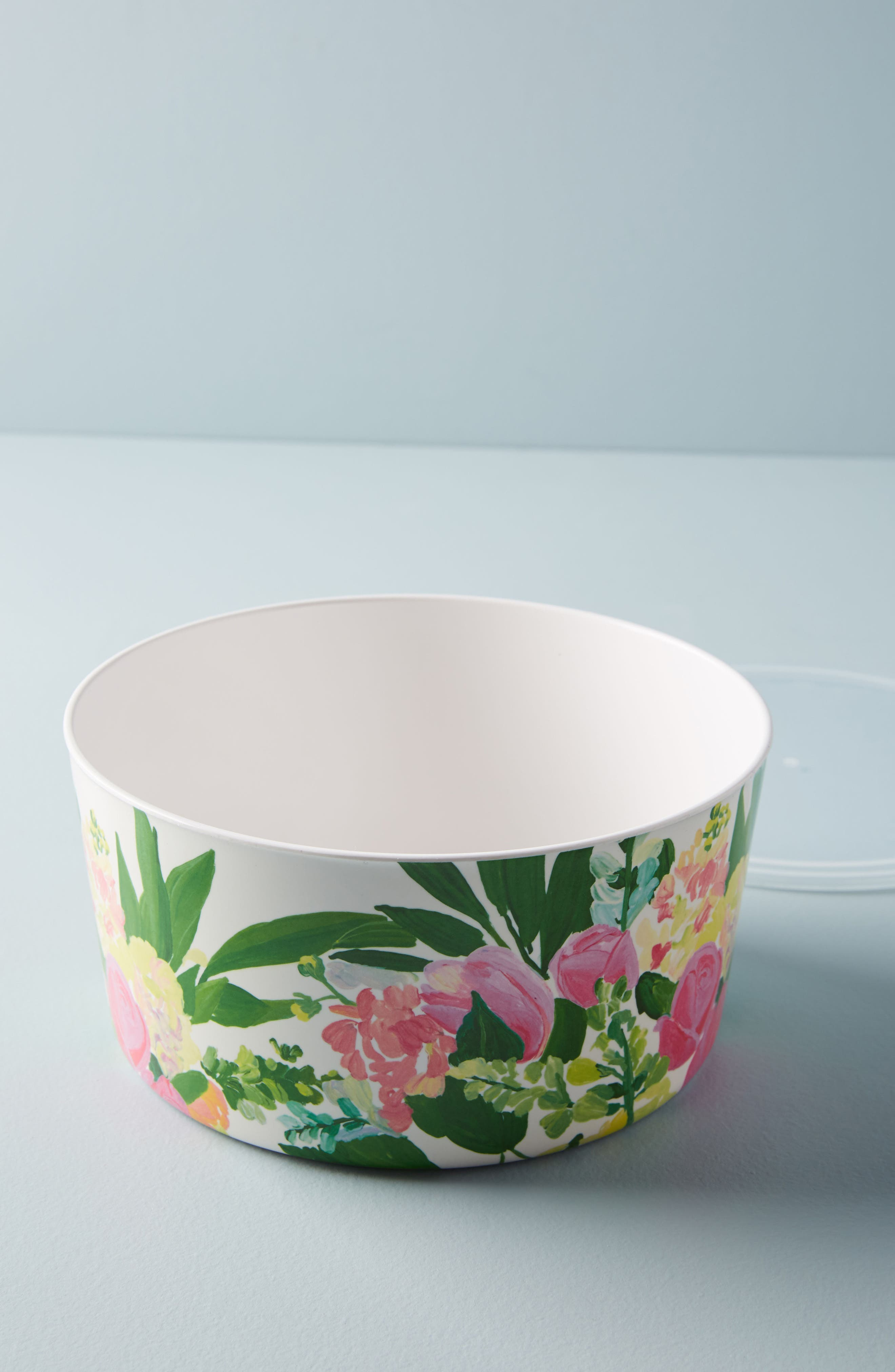 Paint + Petals Melamine Storage Bowl,                             Main thumbnail 1, color,                             WHITE MULTI