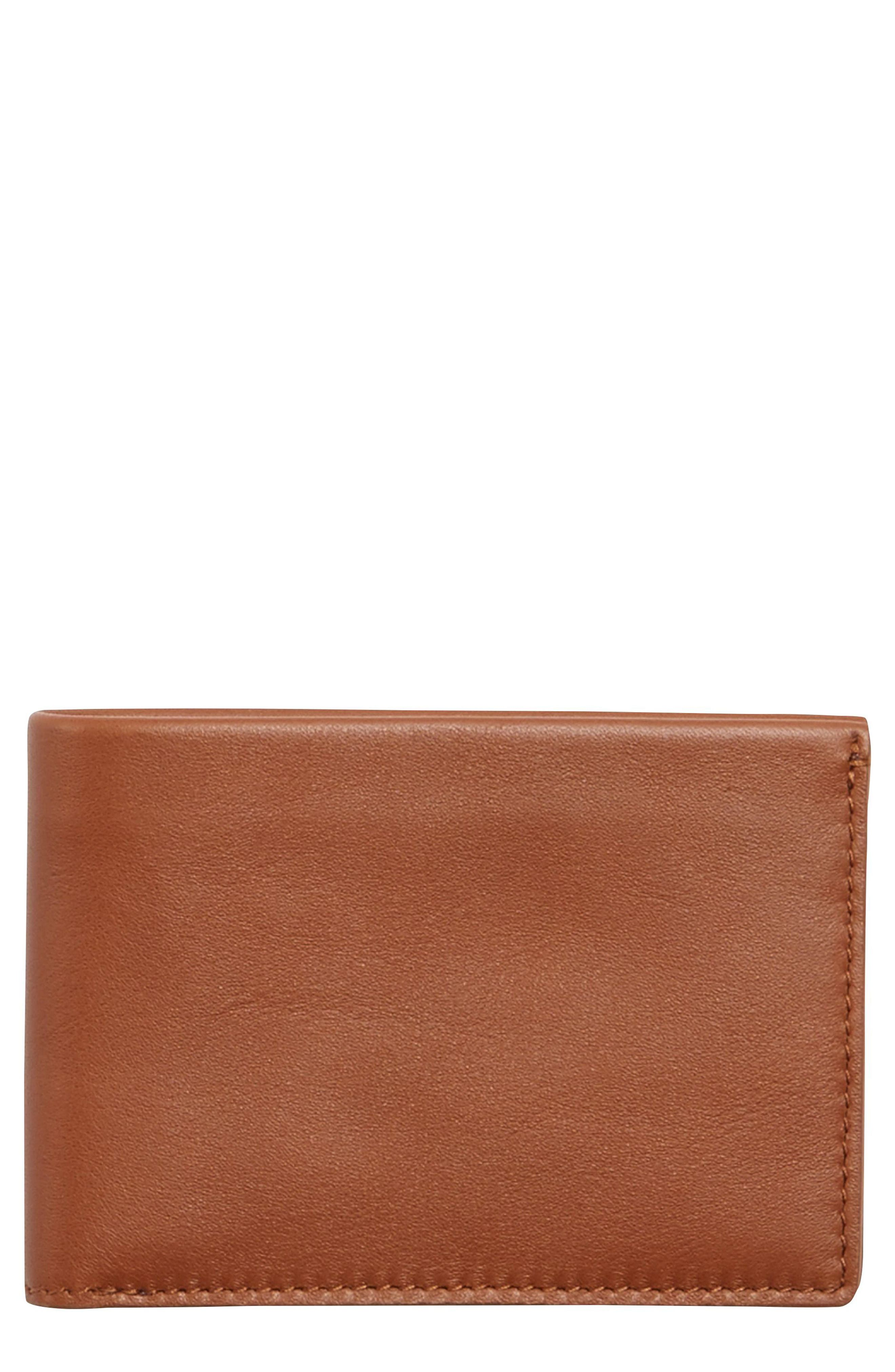 Leather Wallet,                         Main,                         color, 222